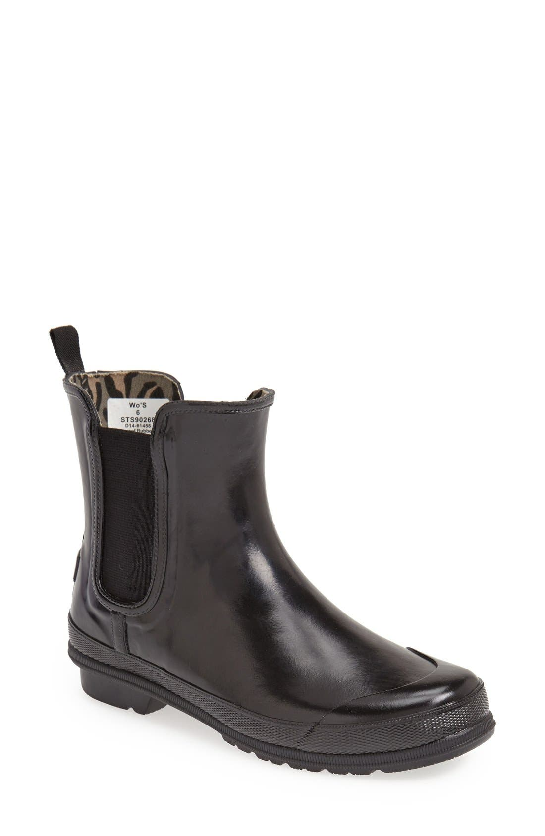 Top-Sider<sup>®</sup> 'Starling' Rubber Rain Boot, Main, color, 001