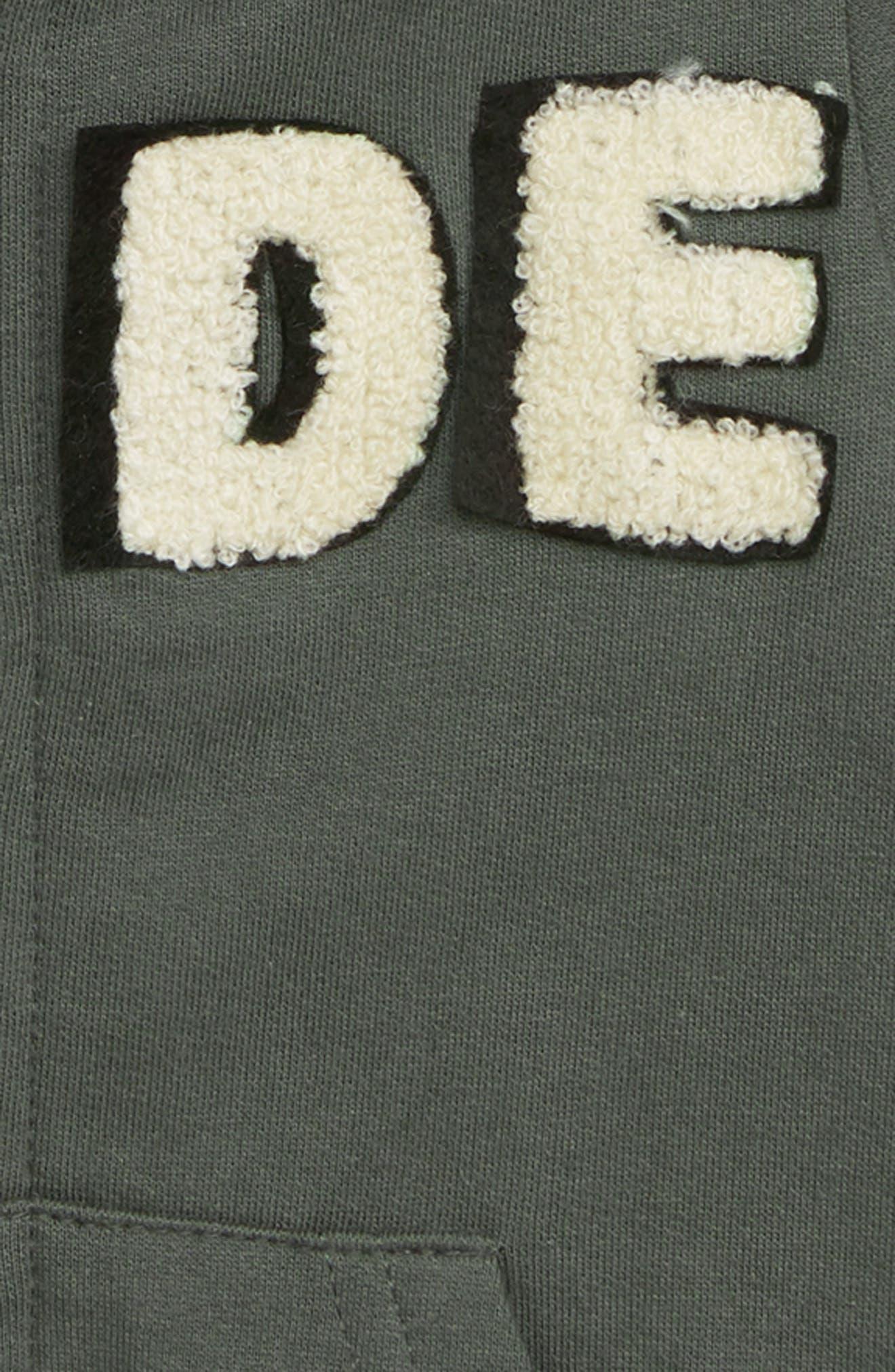 Peek Dude Zip Hoodie,                             Alternate thumbnail 2, color,                             OLIVE