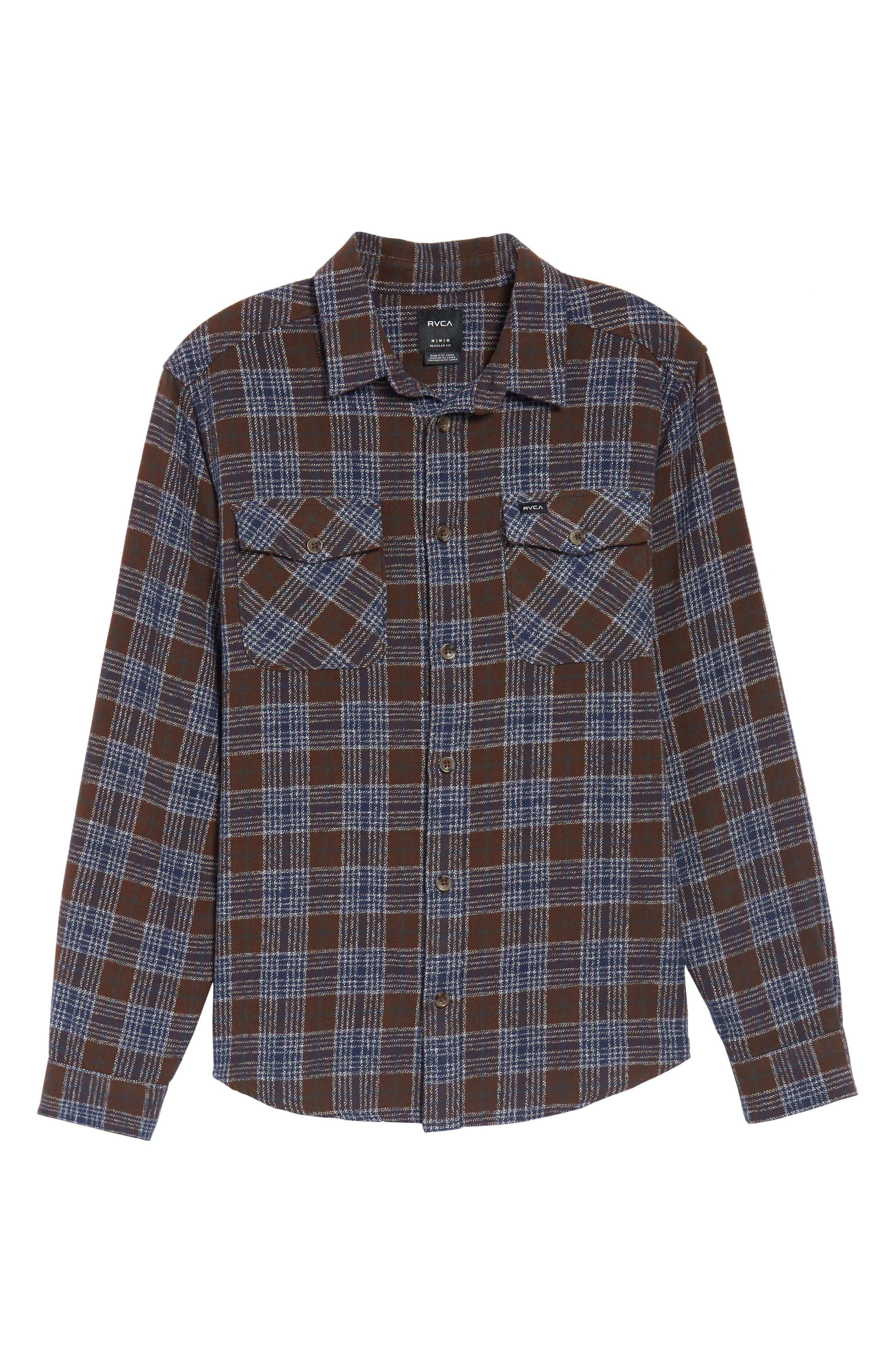 'That'll Work' Trim Fit Plaid Flannel Shirt,                             Alternate thumbnail 32, color,