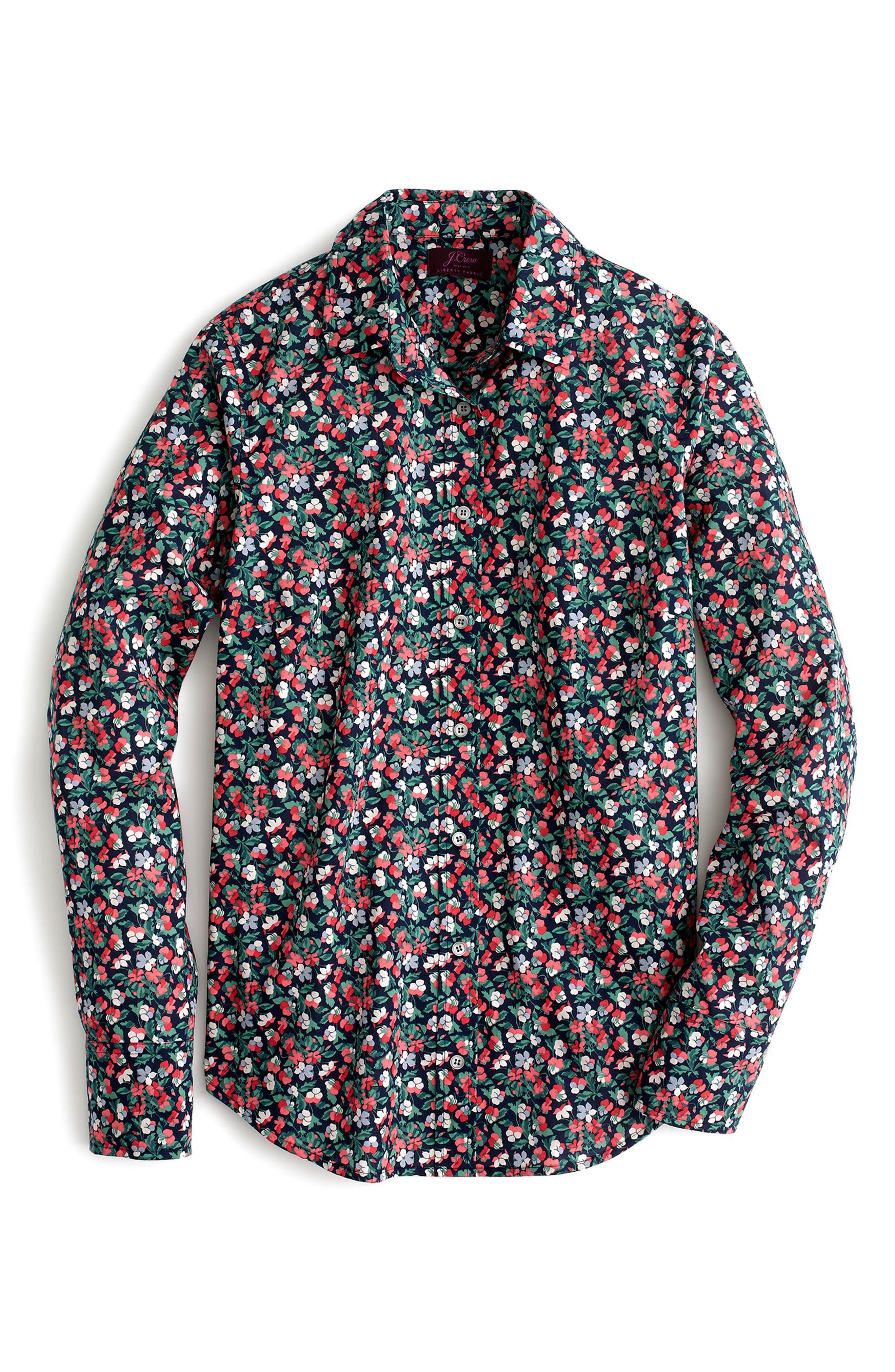 Sarah Liberty Perfect Shirt,                             Alternate thumbnail 2, color,                             400