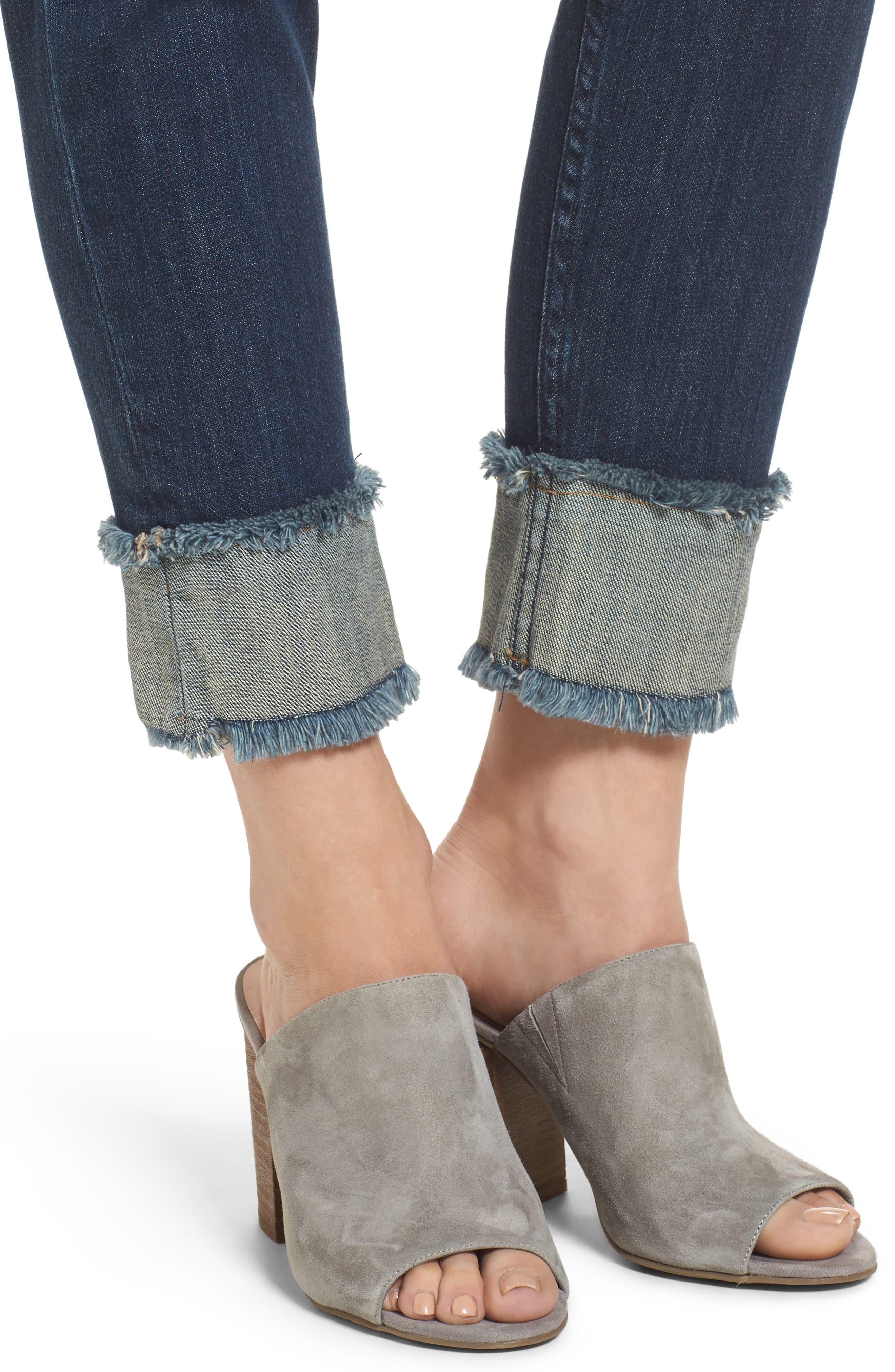 Smith Crop Boyfriend Jeans,                             Alternate thumbnail 4, color,