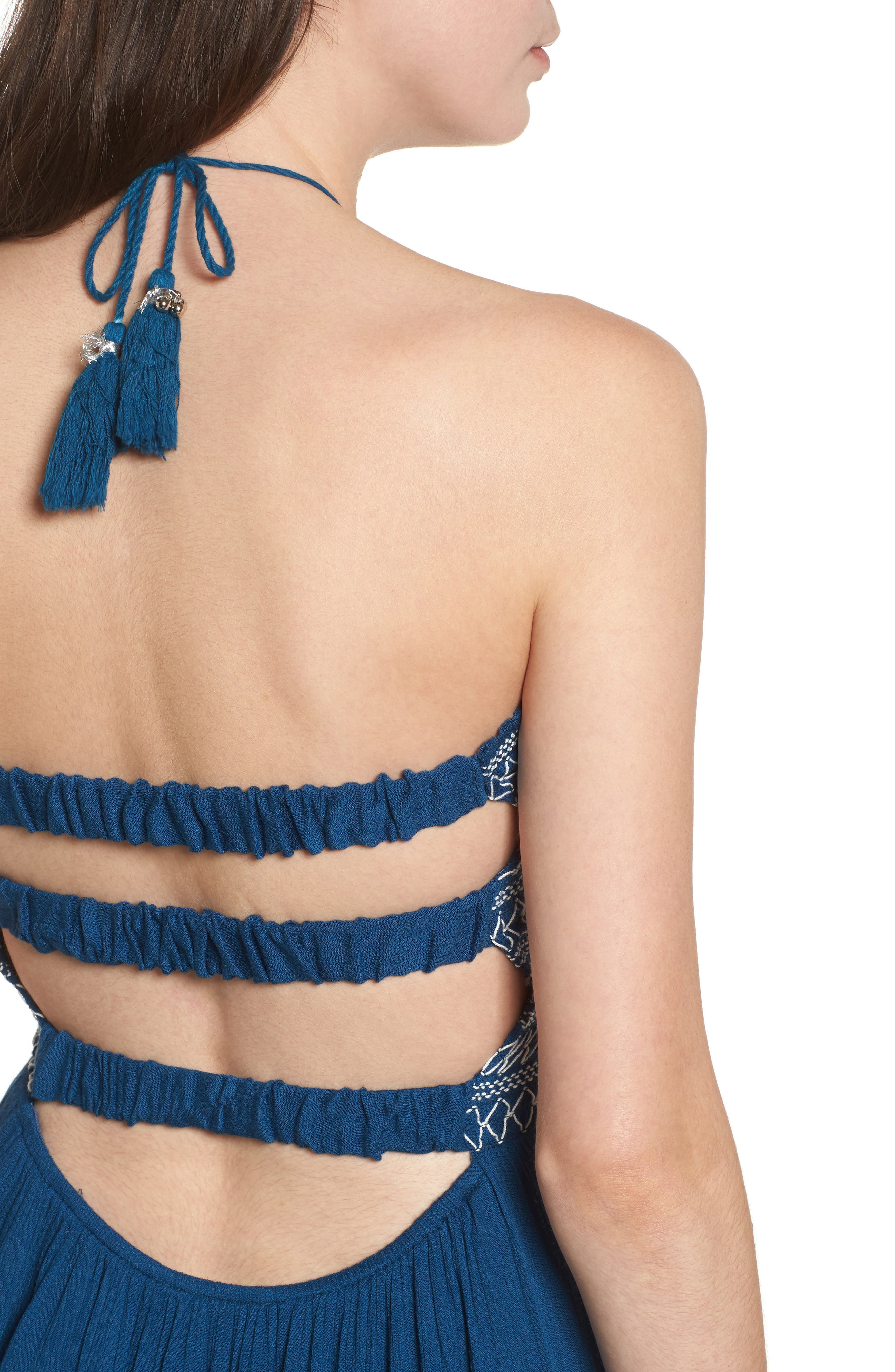 LOST + WANDER,                             Smocked Sailor Minidress,                             Alternate thumbnail 4, color,                             410