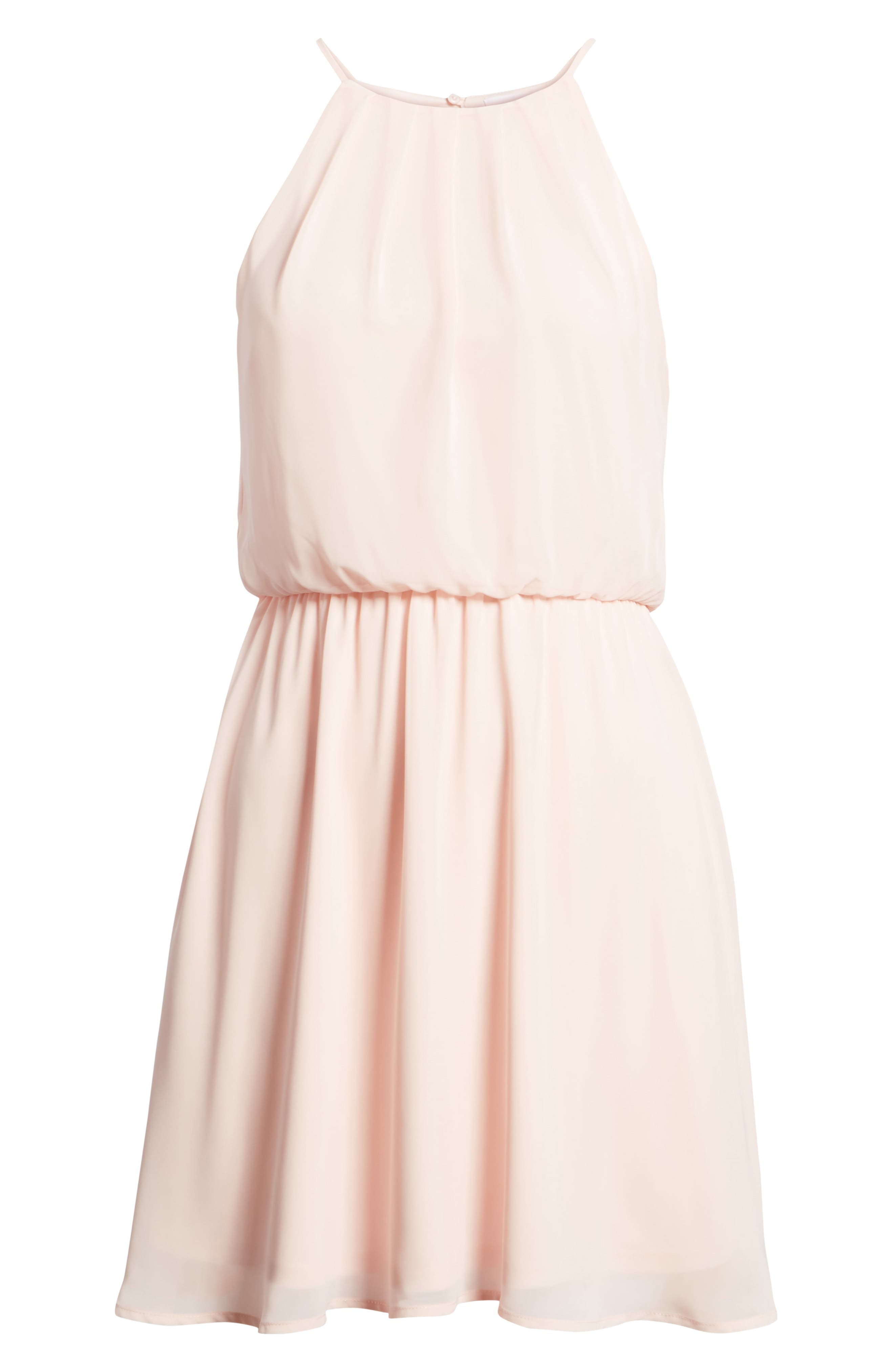 Blouson Chiffon Skater Dress,                             Alternate thumbnail 239, color,
