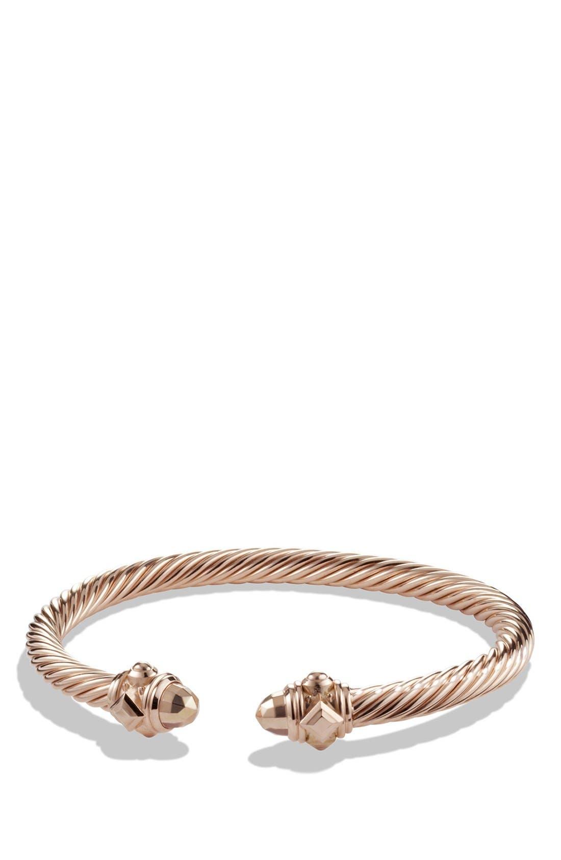 Renaissance Bracelet in 18K Rose Gold, 5mm,                             Main thumbnail 1, color,                             ROSE GOLD