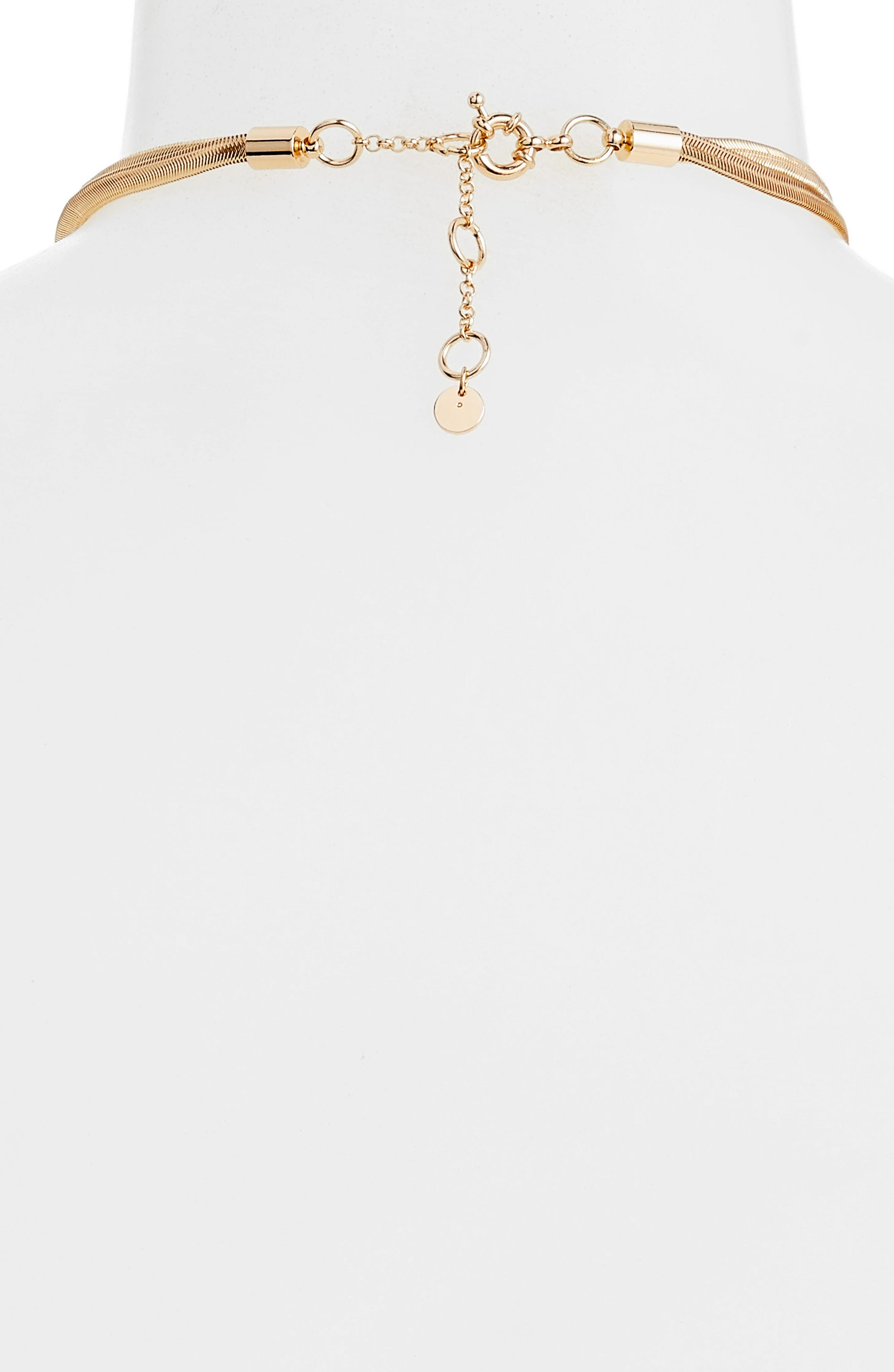 Exaggerated Lariat Necklace,                             Alternate thumbnail 3, color,                             GOLD