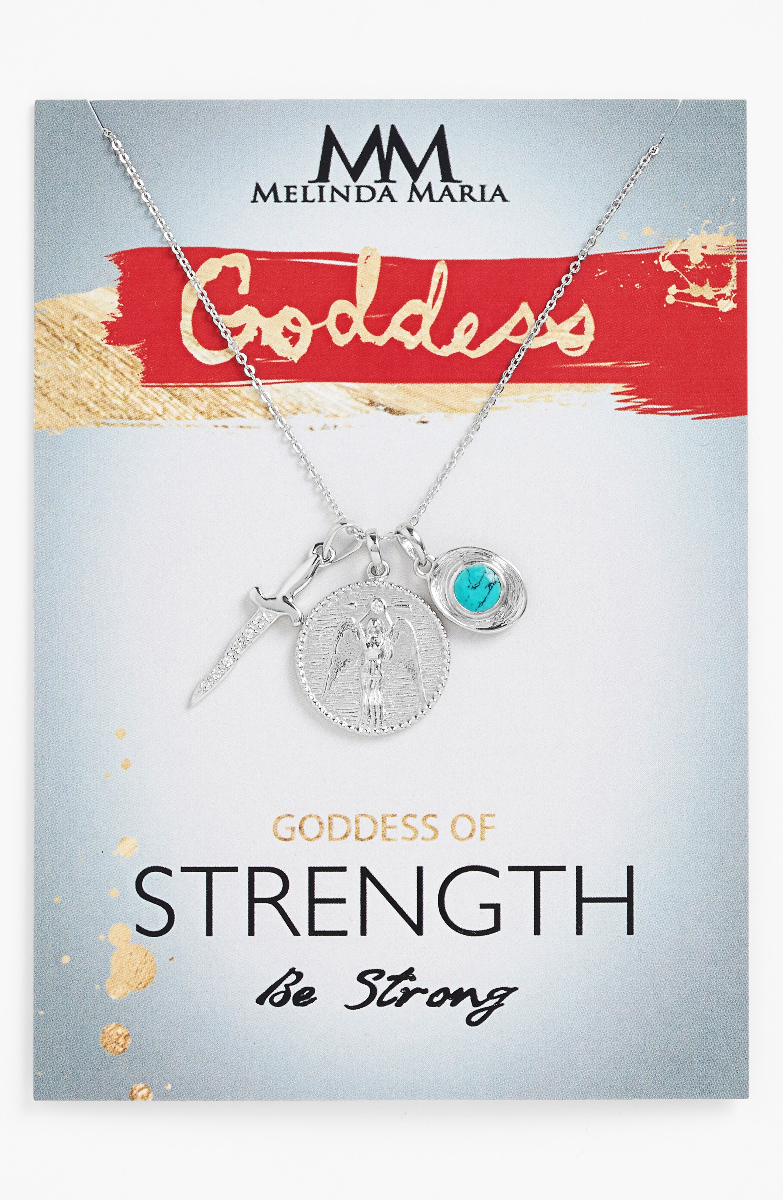 Goddess of Strength Cluster Pendant Necklace,                             Main thumbnail 1, color,