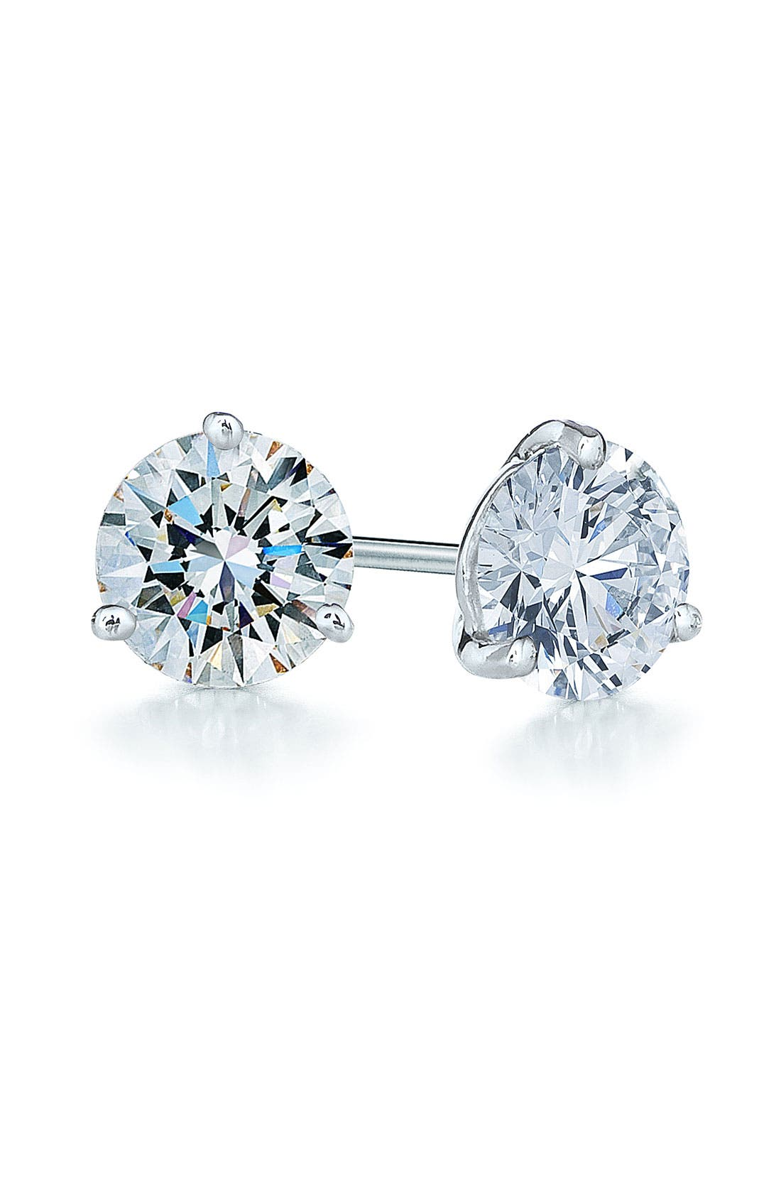1.50ct tw Diamond & Platinum Stud Earrings,                             Main thumbnail 1, color,                             PLATINUM