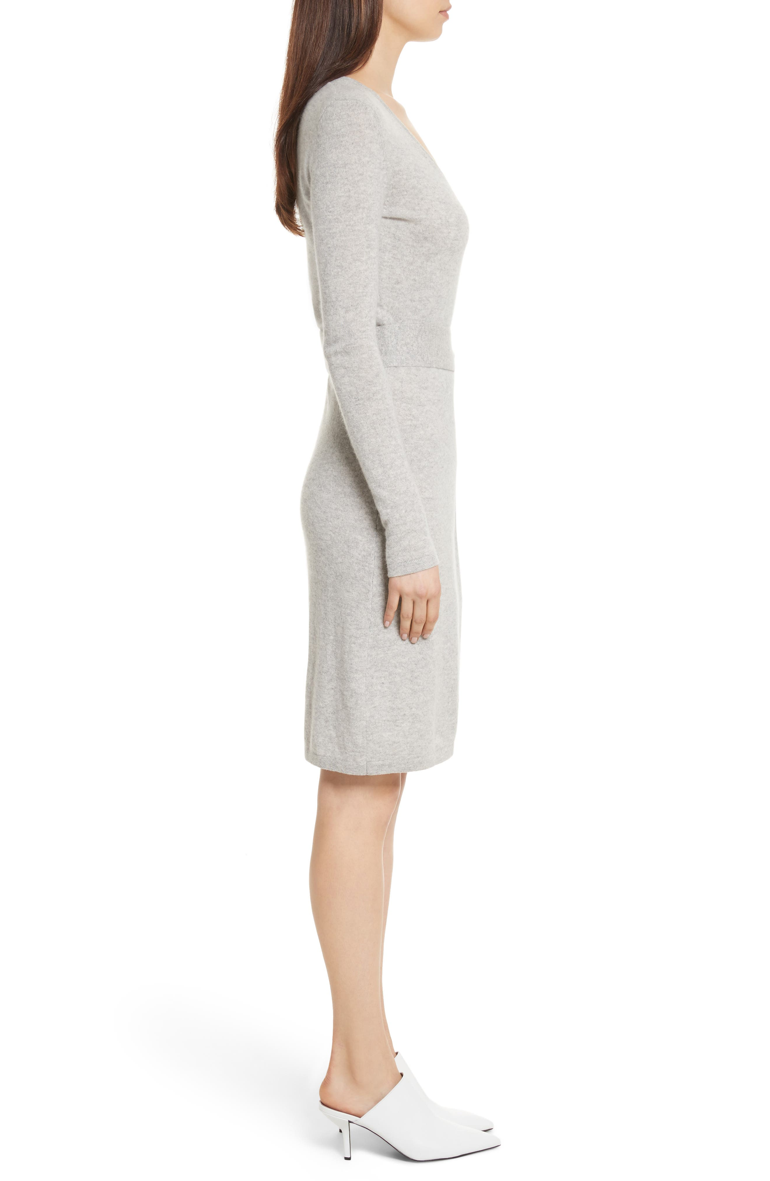 Diane Von Furstenberg Linda Cashmere Wrap Dress,                             Alternate thumbnail 6, color,