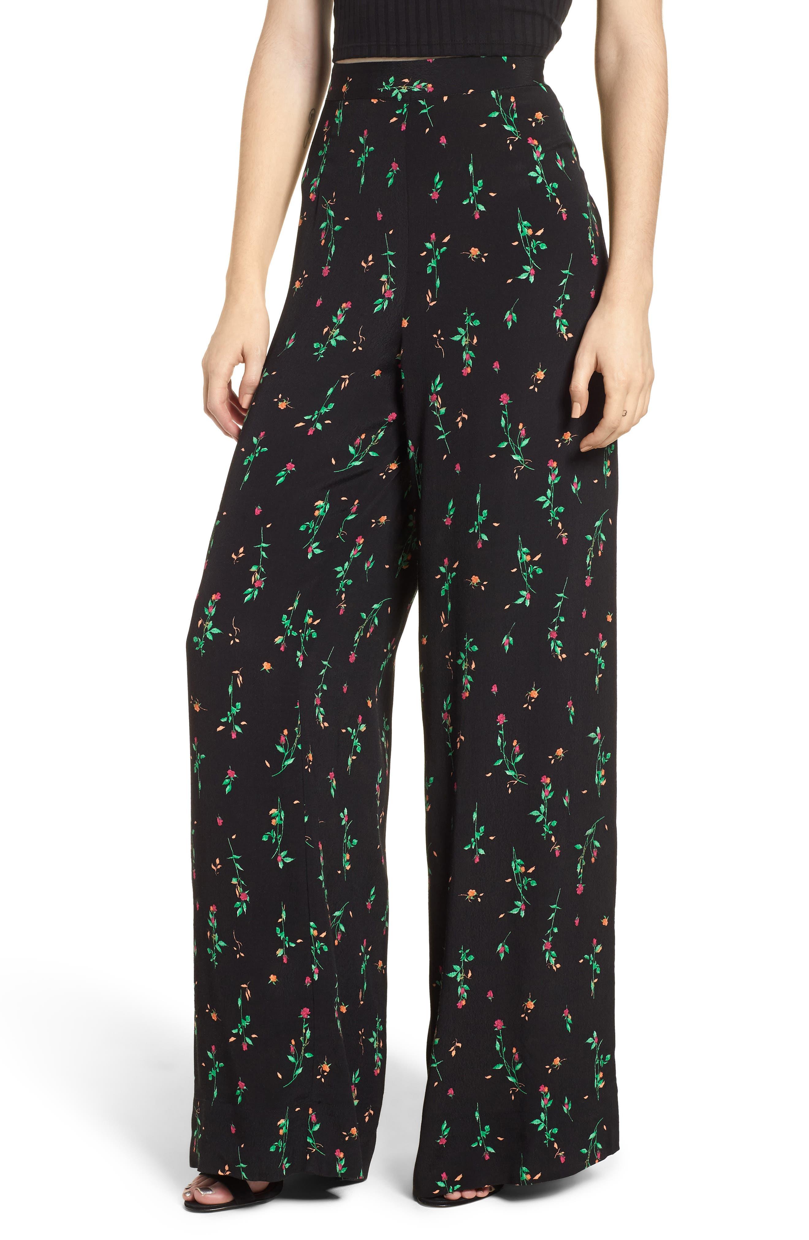 Carter High Waist Wide Leg Pants,                         Main,                         color, 001