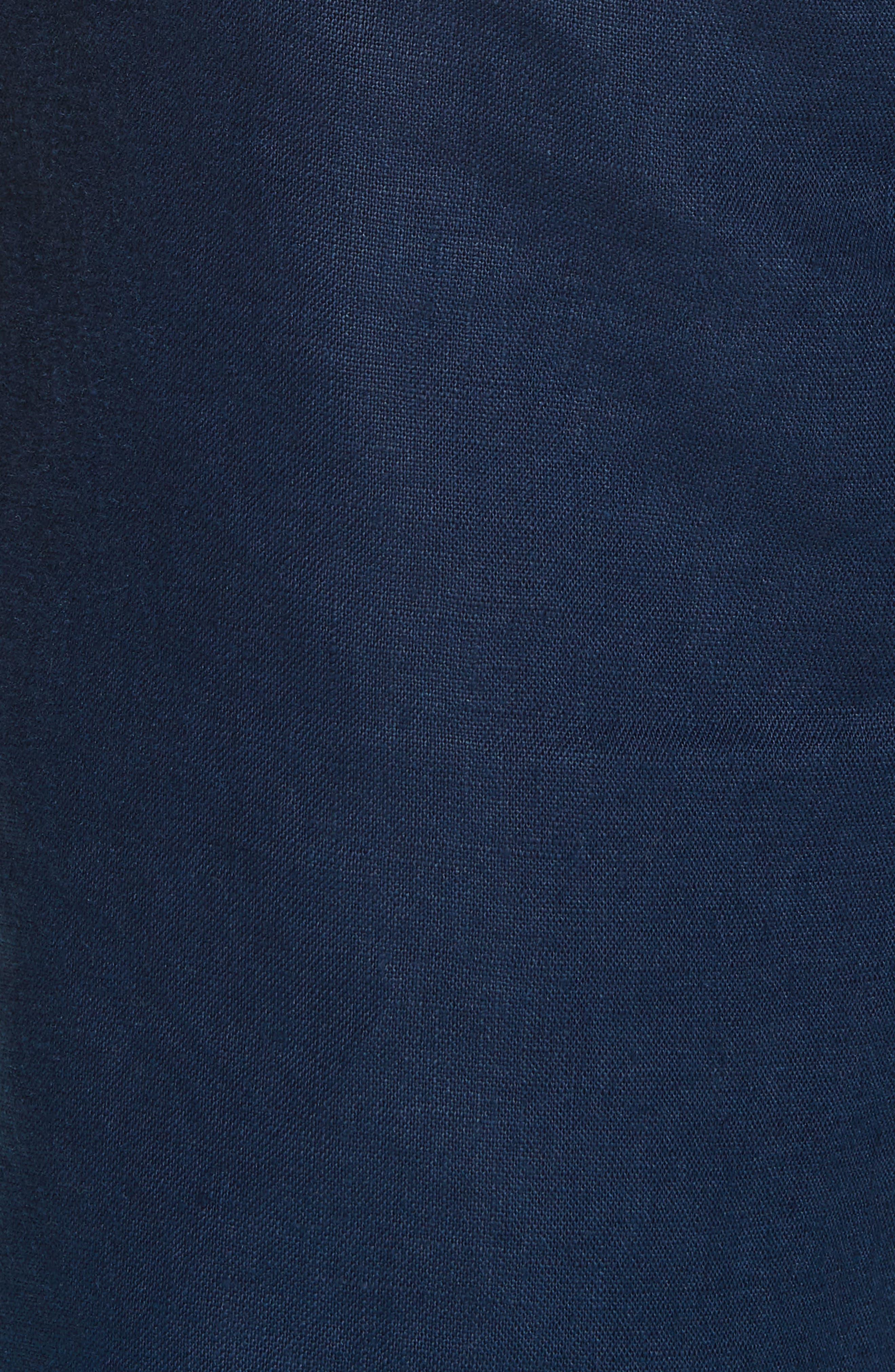 Austin Linen Shorts,                             Alternate thumbnail 5, color,                             DEEP NAVY