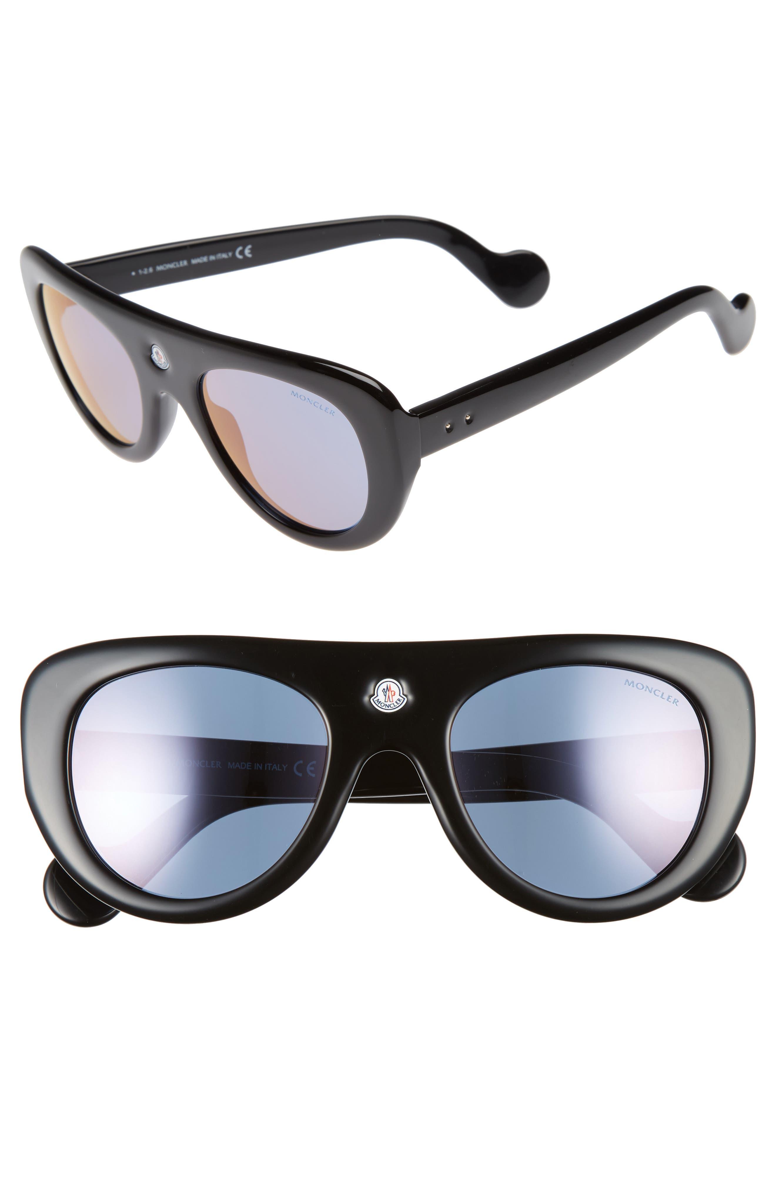 51mm Shield Sunglasses,                             Main thumbnail 1, color,                             001