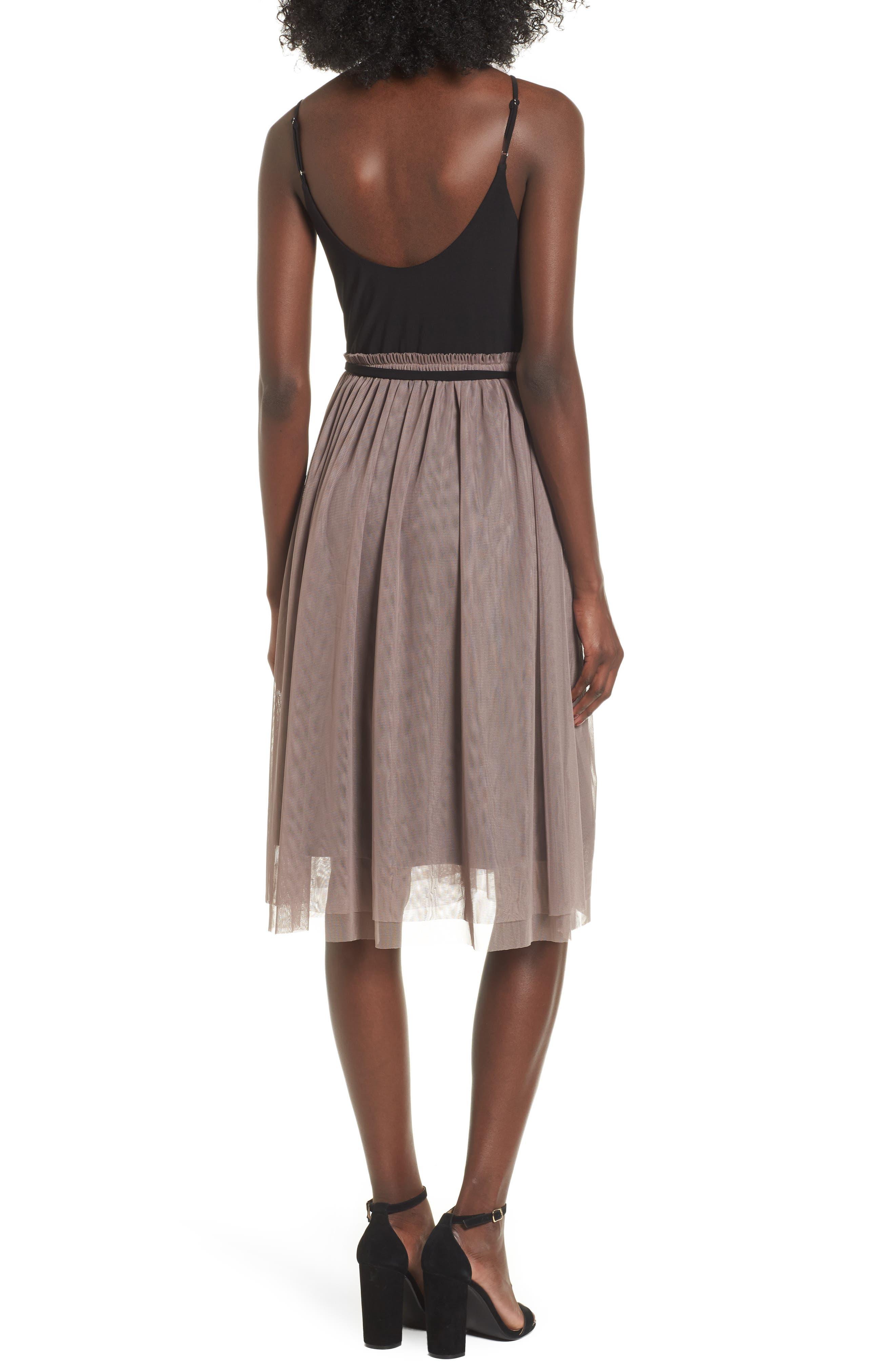 Mixed Media Midi Dress,                             Alternate thumbnail 2, color,                             238