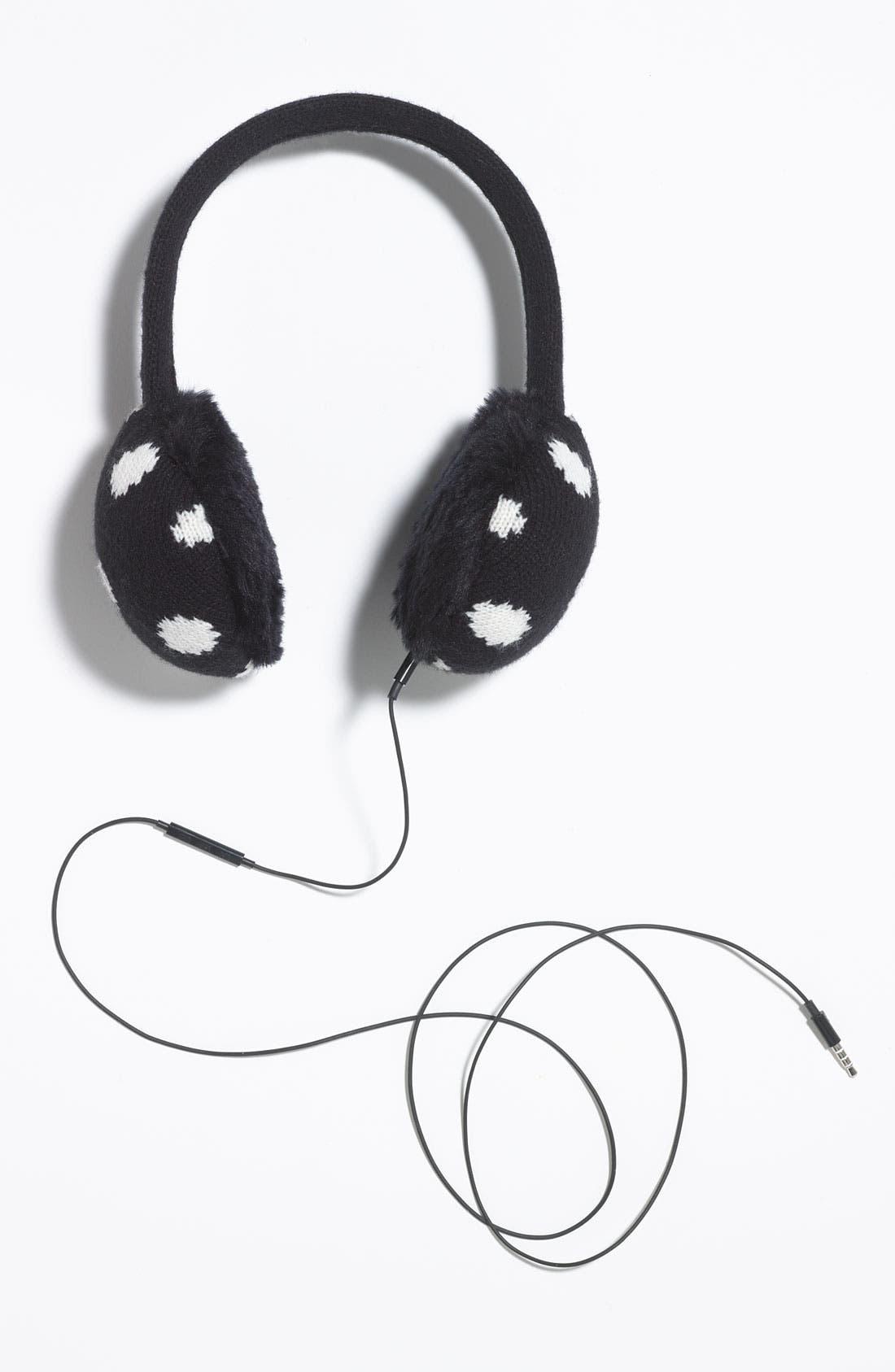 KATE SPADE NEW YORK,                             'spotty' tech earmuffs,                             Alternate thumbnail 3, color,                             001