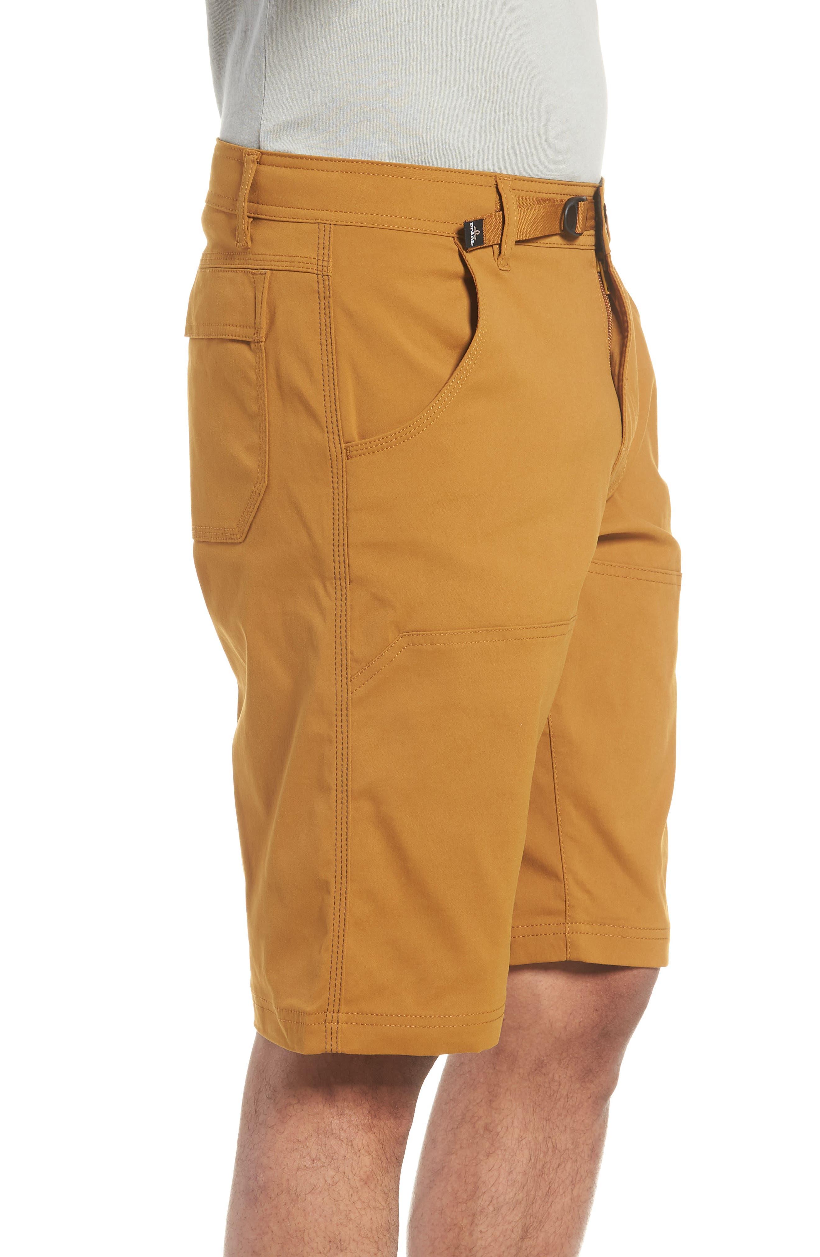 PRANA,                             Zion Stretch Shorts,                             Alternate thumbnail 3, color,                             BRONZED