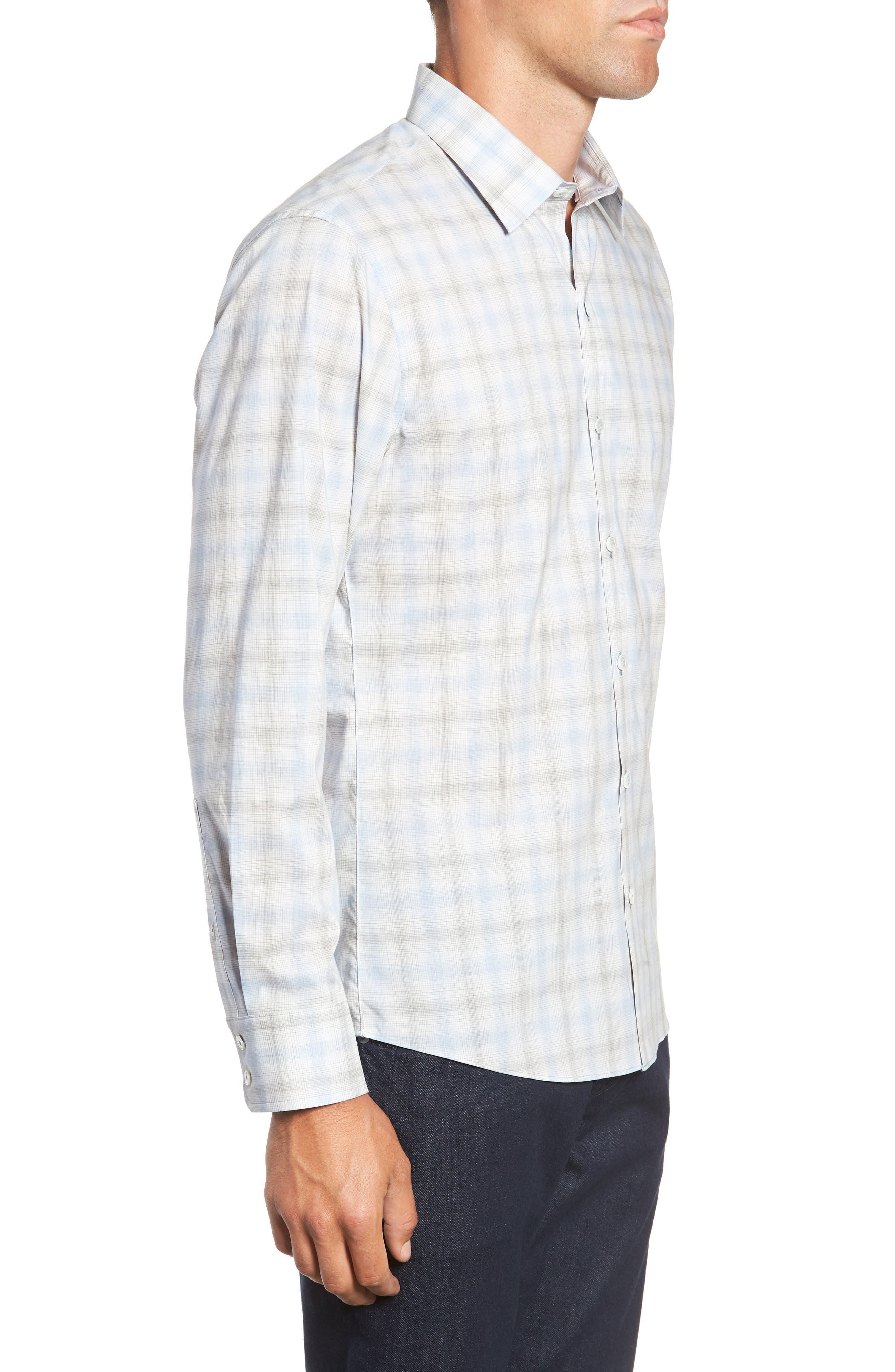 Mourad Regular Fit Sport Shirt,                             Alternate thumbnail 4, color,                             LIGHT GREY