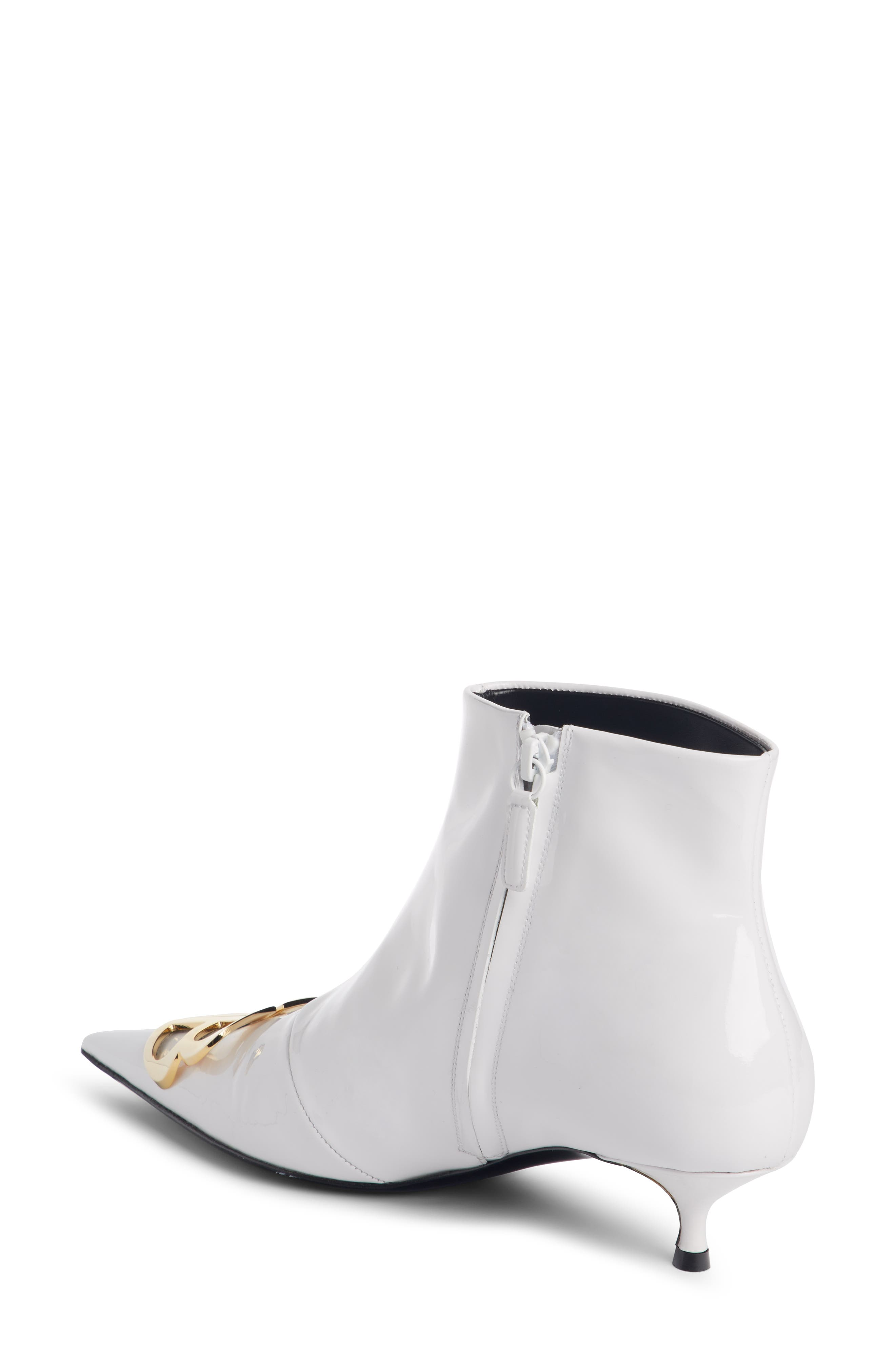 BB Pointy Toe Bootie,                             Alternate thumbnail 2, color,                             WHITE