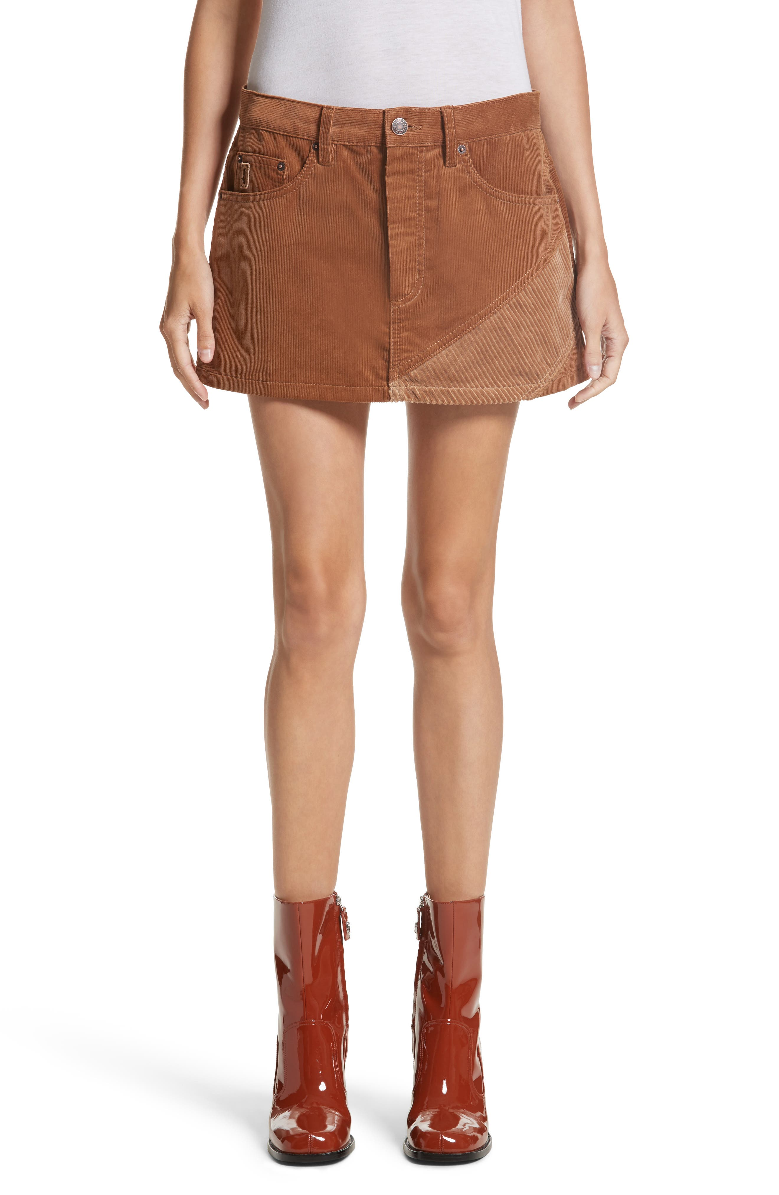 Corduroy Miniskirt,                         Main,                         color, 200