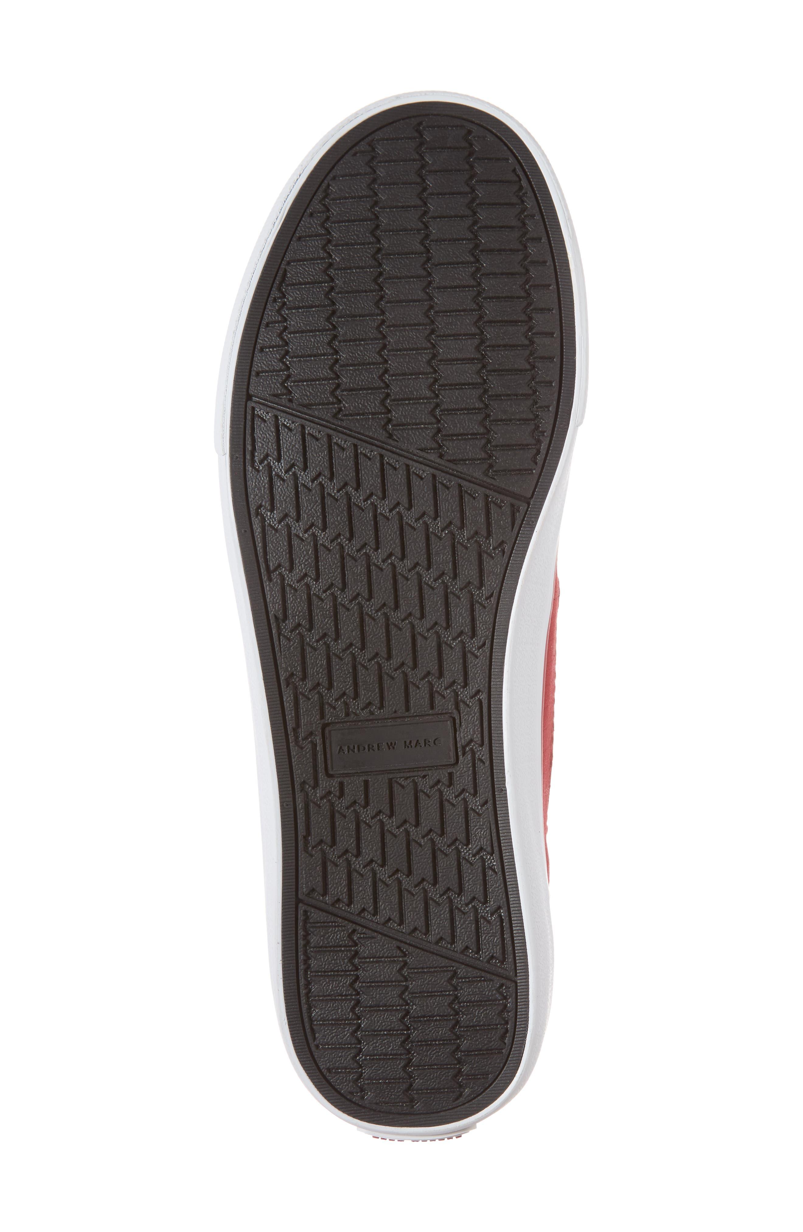 Morris Sneaker,                             Alternate thumbnail 6, color,                             RED/ WHITE