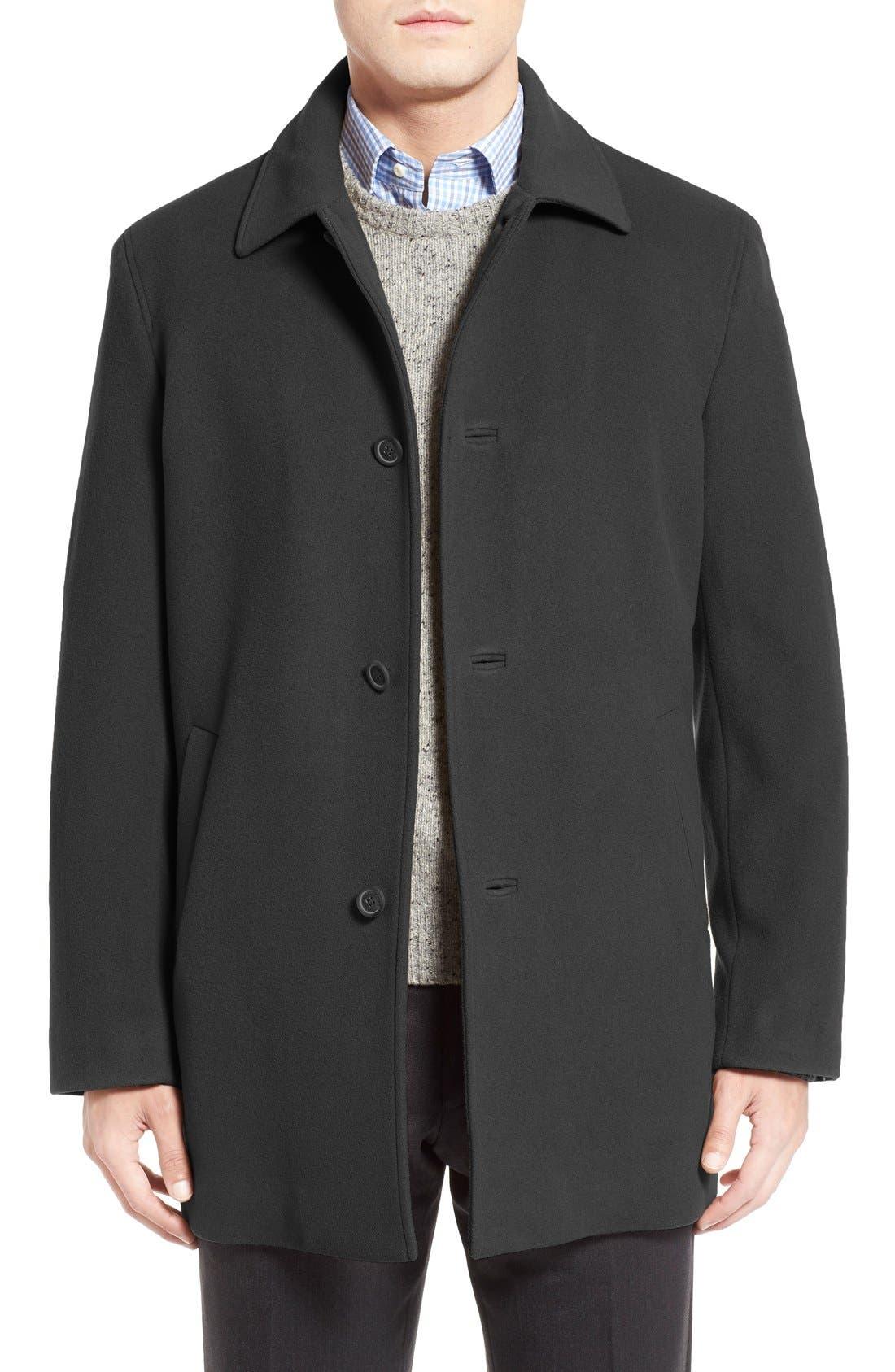 Italian Wool Blend Overcoat,                             Main thumbnail 3, color,