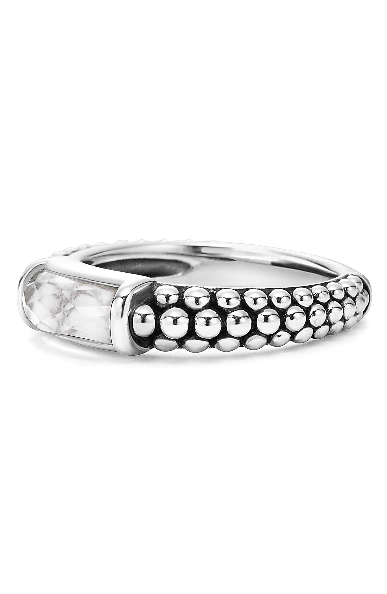 'Maya' Stackable Caviar Ring,                             Alternate thumbnail 3, color,                             040