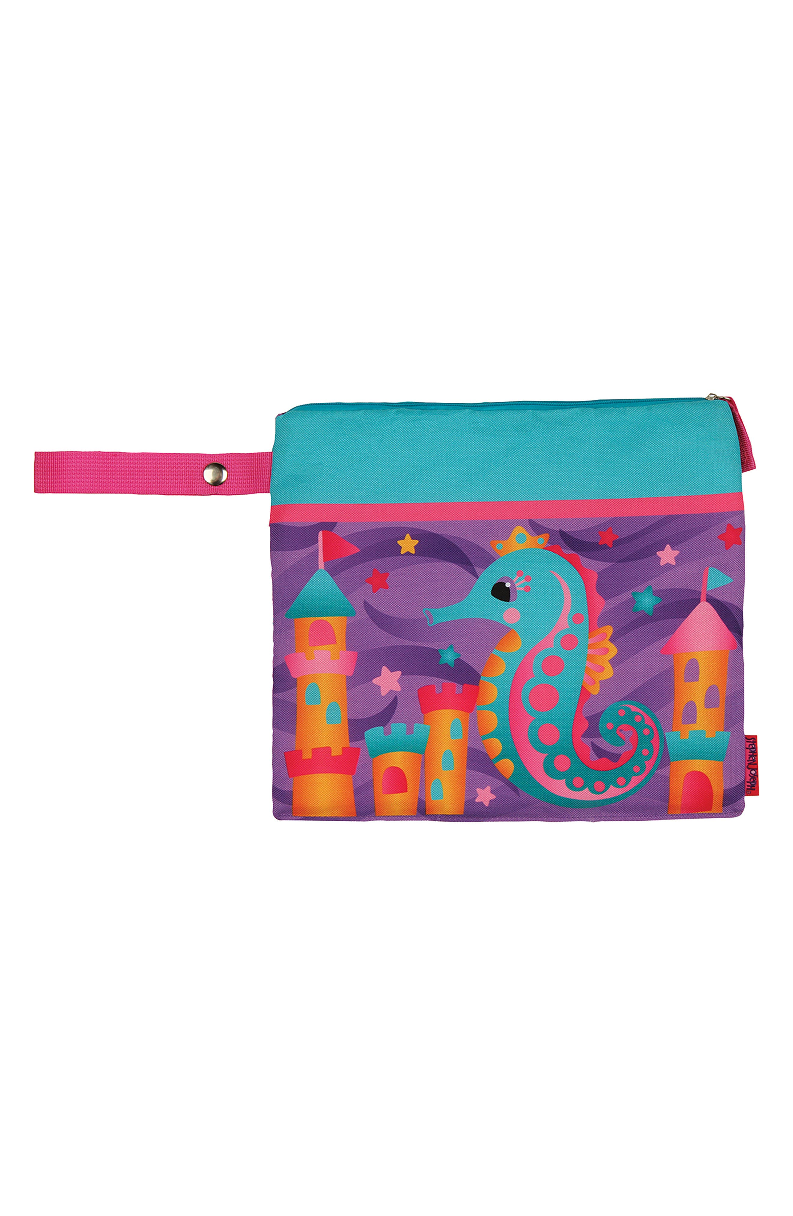 Bag, Hooded Towel & Goggles,                             Alternate thumbnail 2, color,                             PURPLE SEAHORSE