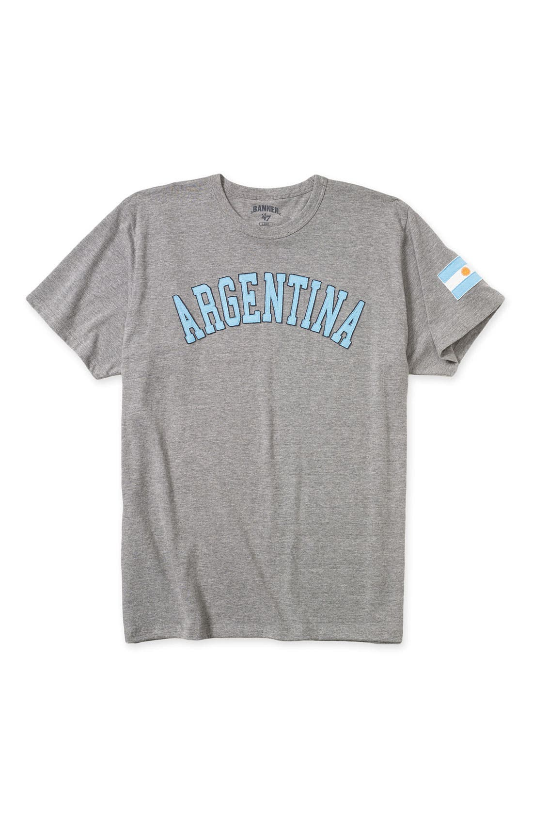 '47,                             Banner 47 'España' Classic Fit Crewneck T-Shirt,                             Main thumbnail 1, color,                             021