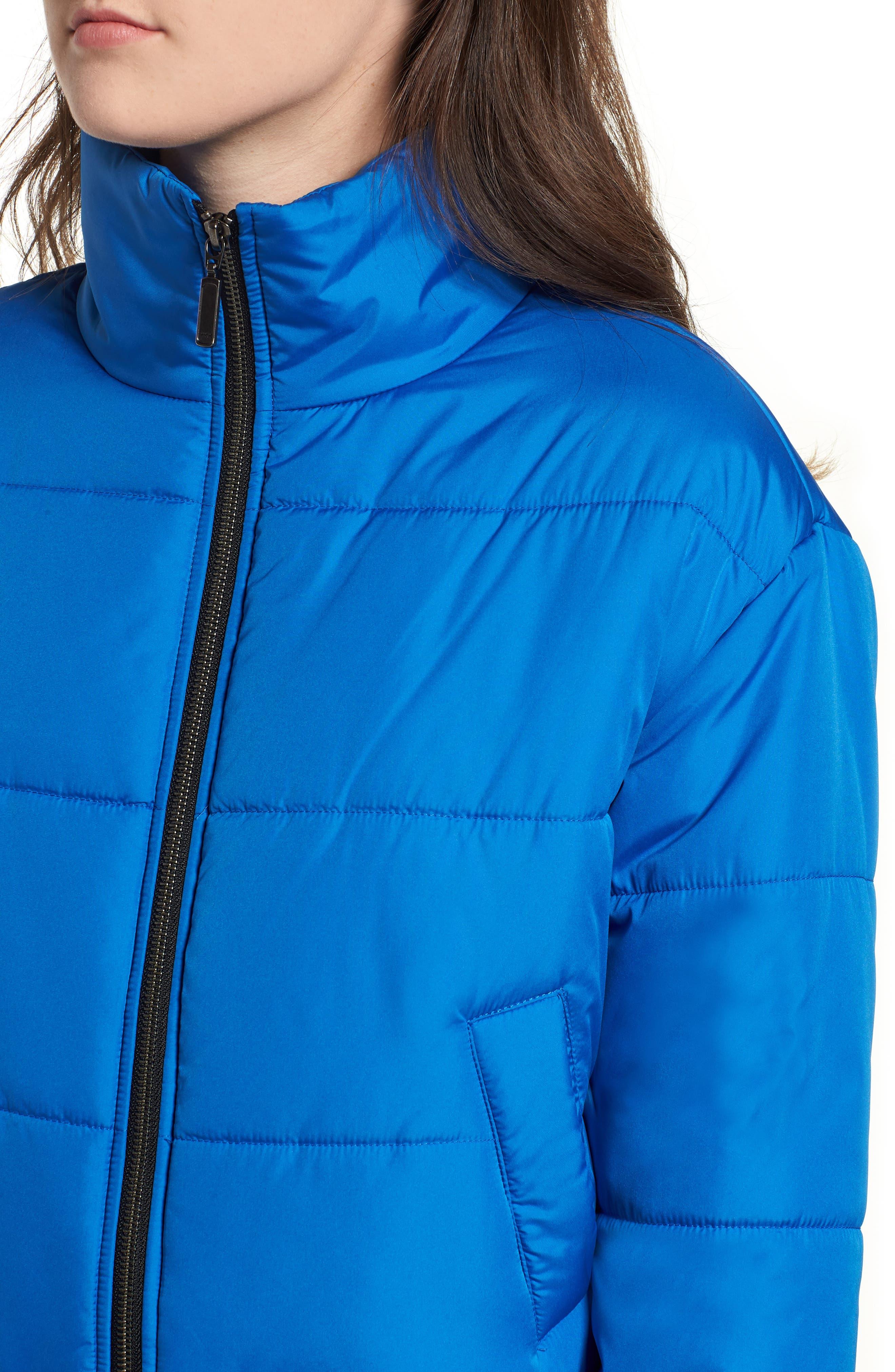 Crop Puffer Jacket,                             Alternate thumbnail 6, color,                             BLUE BOAT