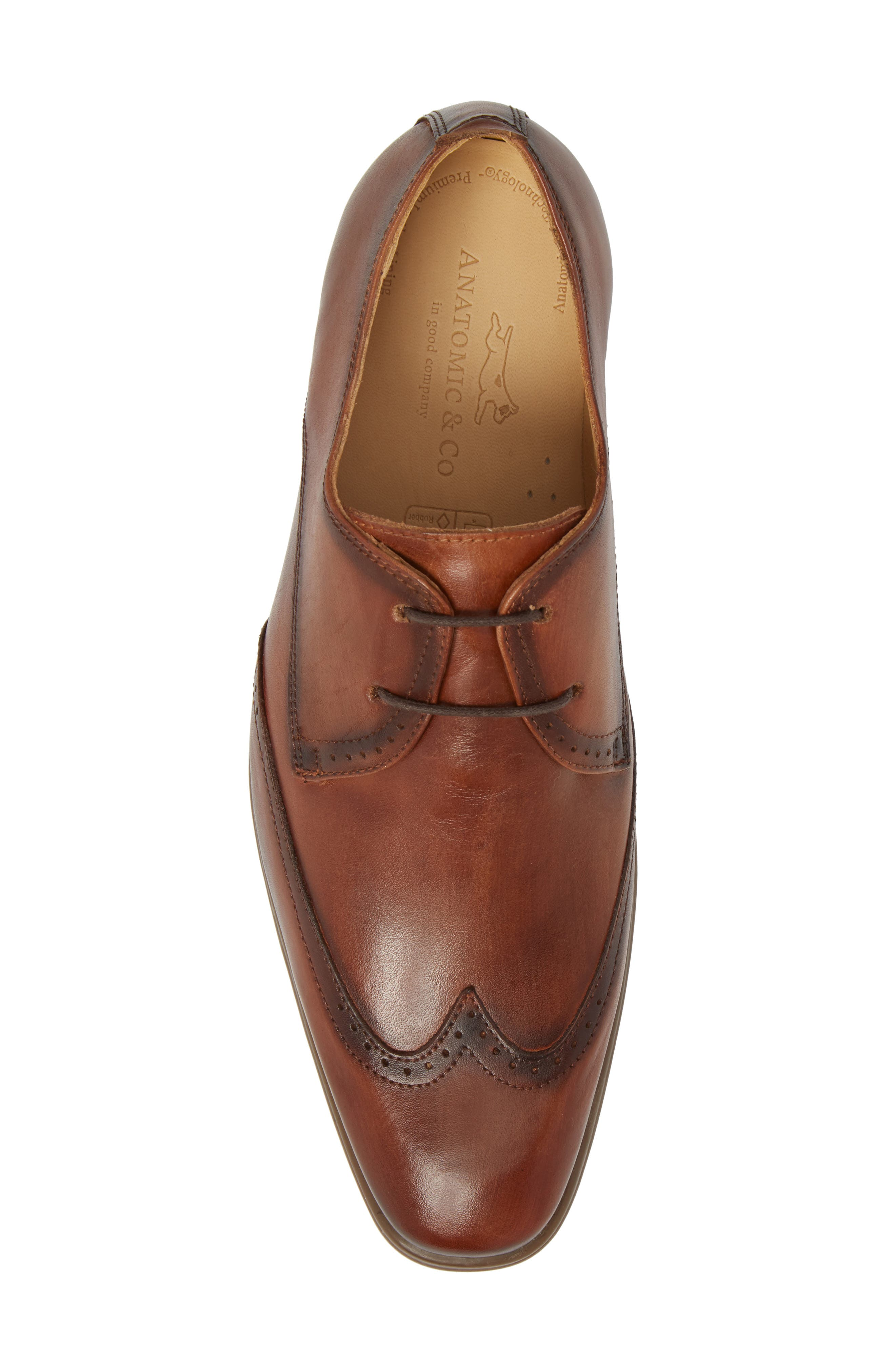 Ben Wingtip Derby,                             Alternate thumbnail 5, color,                             TOUCH BRONZE BRUSHED LEATHER