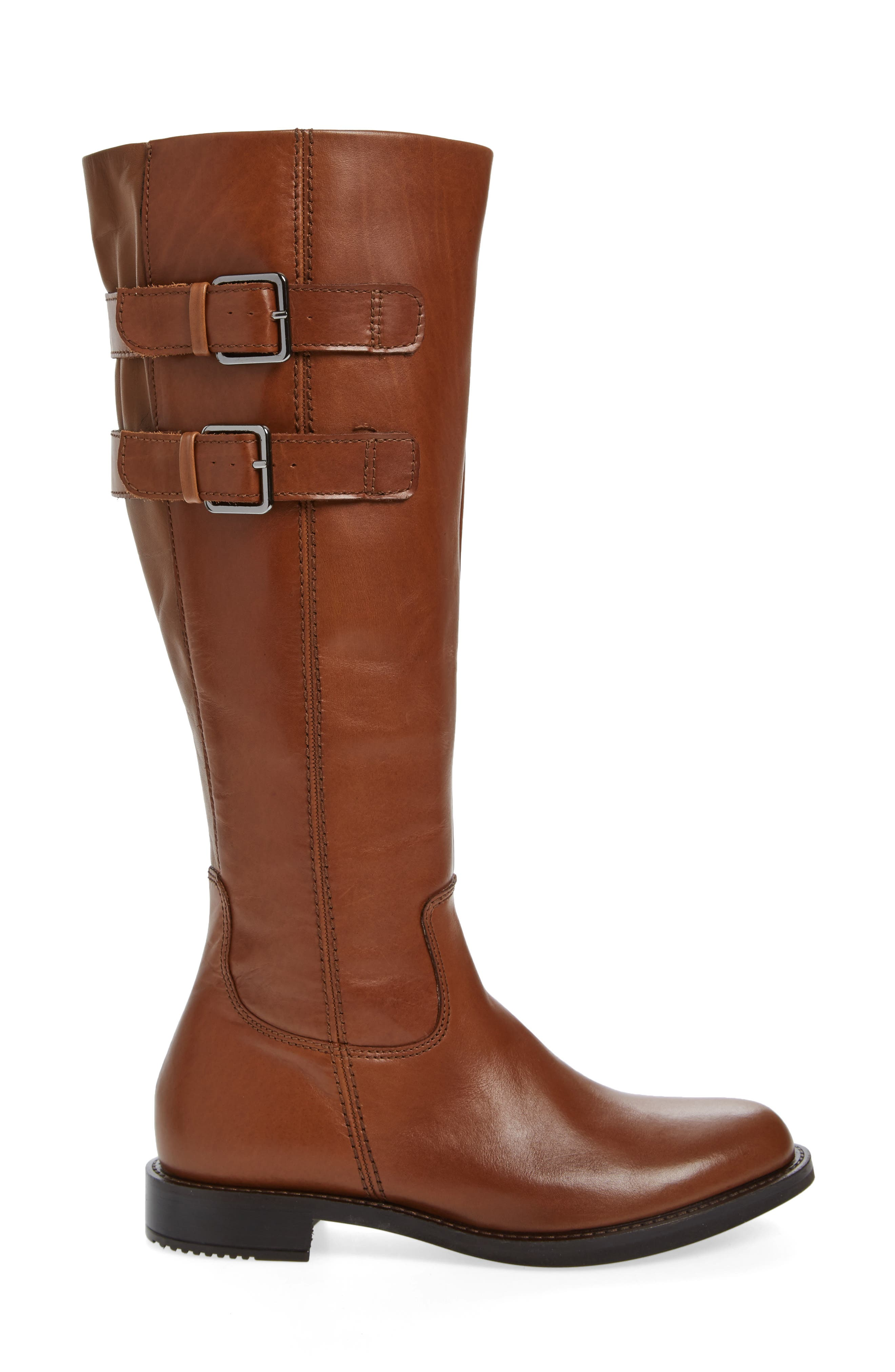 Shape 25 Tall Buckle Boot,                             Alternate thumbnail 3, color,                             CAMEL LEATHER