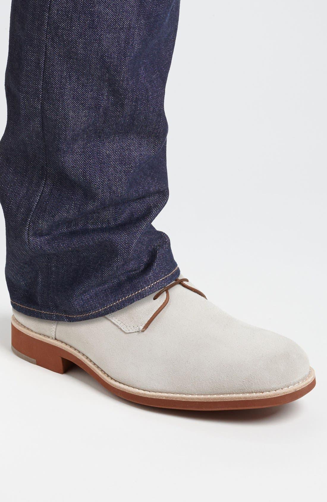 'Ellington' Suede Buck Shoe,                             Alternate thumbnail 7, color,