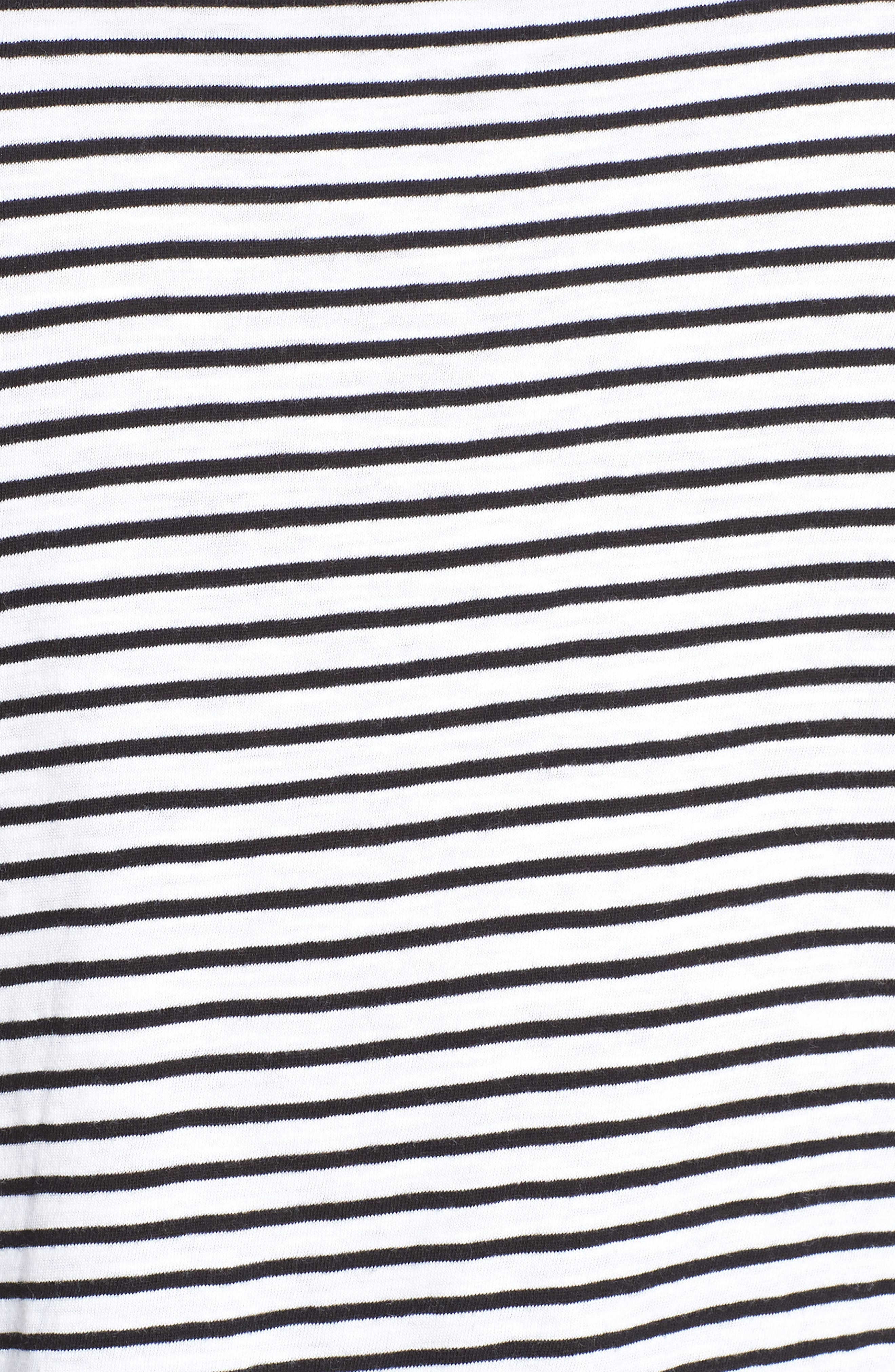 EILEEN FISHER,                             Stripe Organic Cotton Top,                             Alternate thumbnail 5, color,                             WHITE/ BLACK