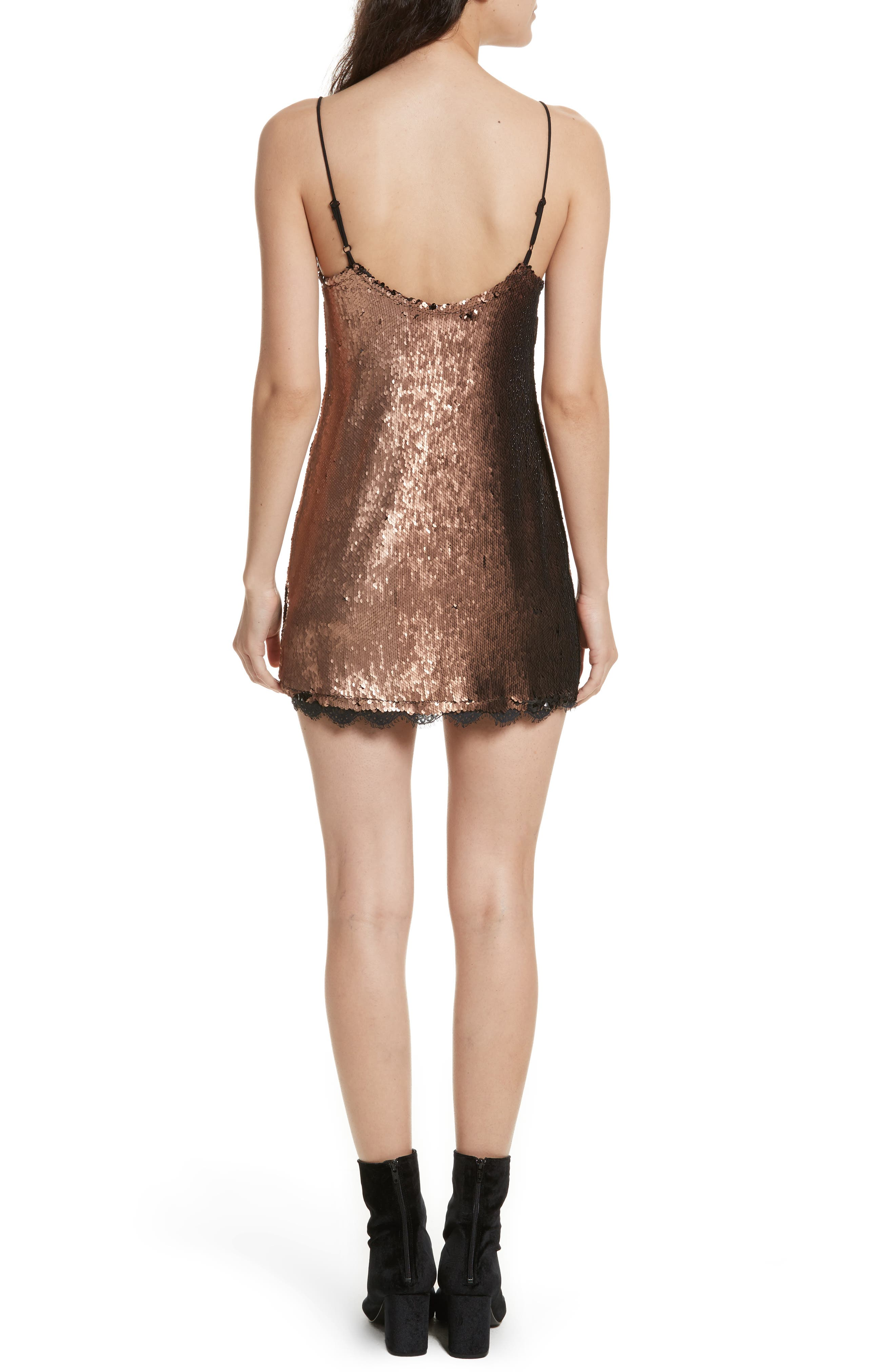 Seeing Double Sequin Slipdress,                             Alternate thumbnail 2, color,                             019