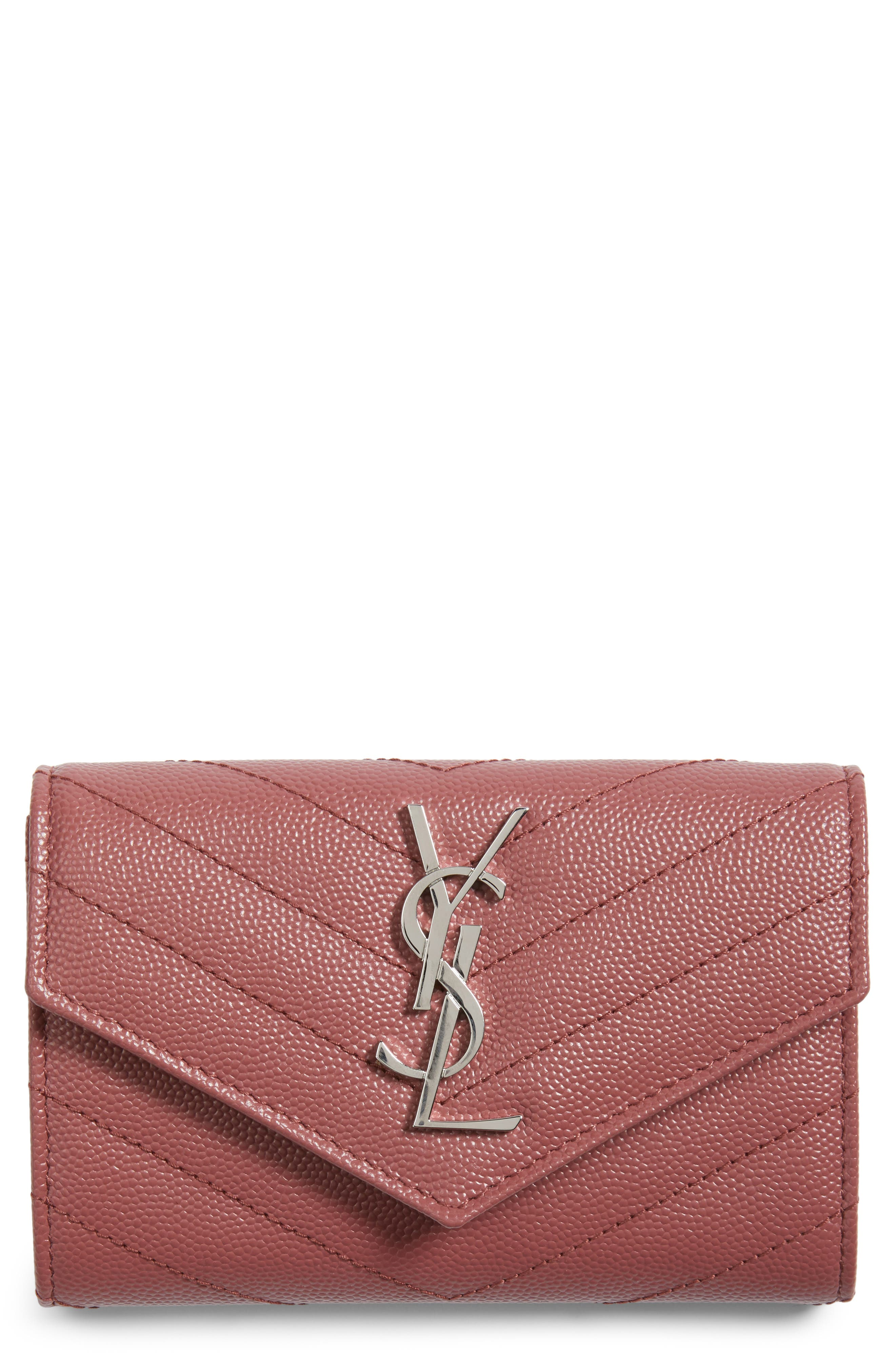 'Small Monogram' Leather French Wallet,                             Main thumbnail 4, color,