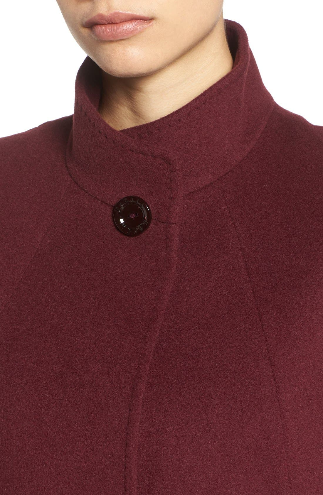 Cinzia Rocca Stand Collar Walking Coat,                             Alternate thumbnail 9, color,