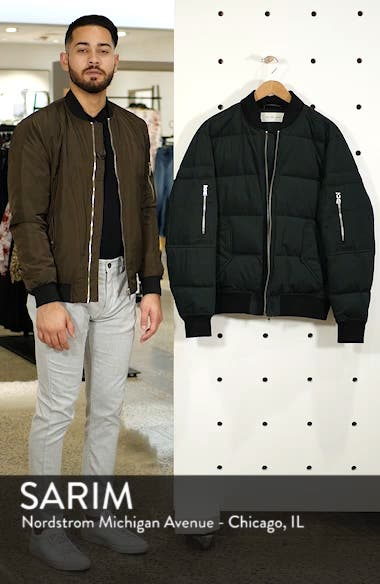 Vandal Down & Feather Fill Quilted Bomber Jacket, sales video thumbnail
