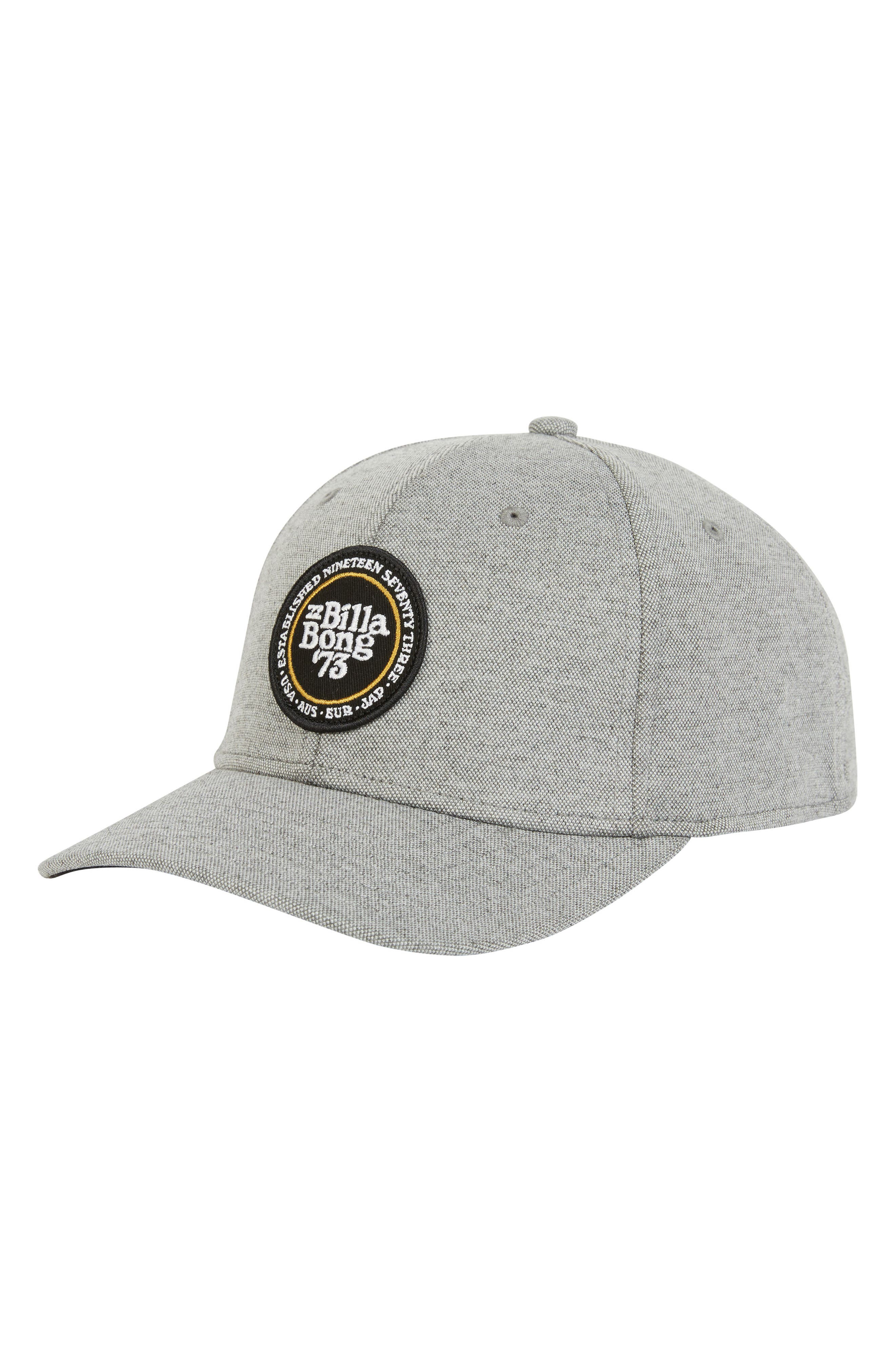 Walled Stretch Baseball Cap,                         Main,                         color, LIGHT GREY HEATHER