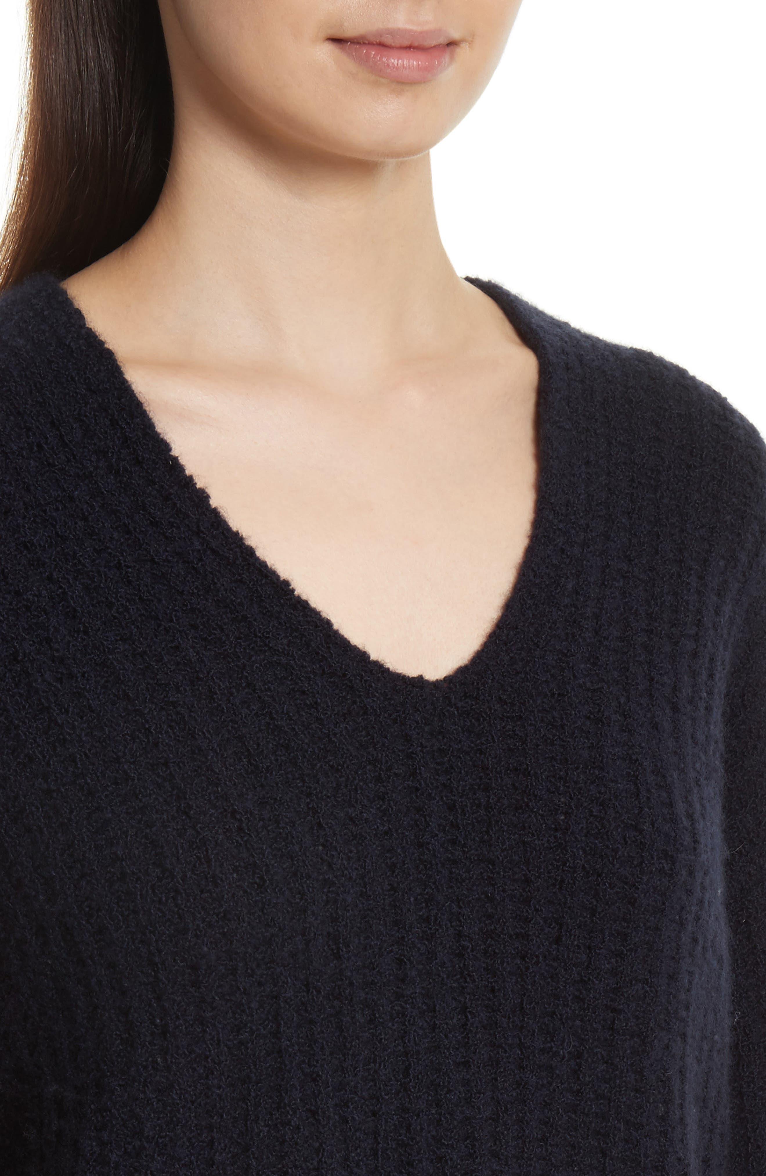 Deep V-Neck Cashmere Blend Sweater,                             Alternate thumbnail 12, color,