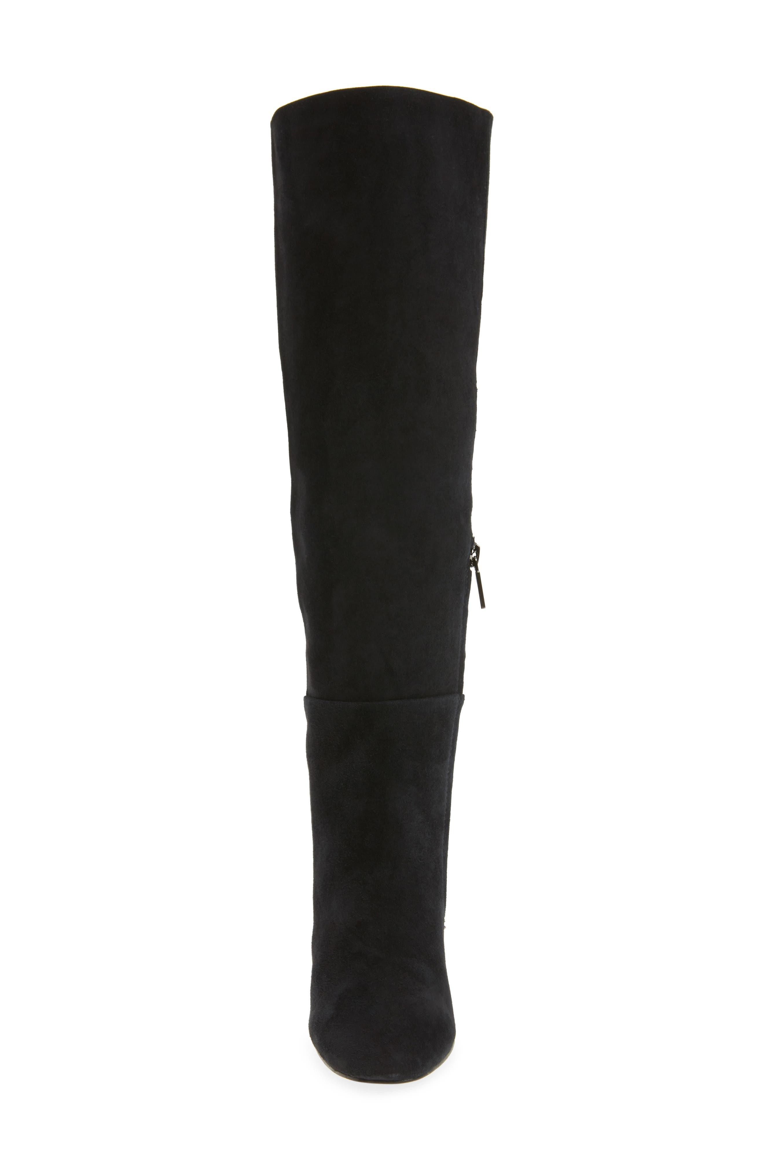 Clarissa Knee High Boot,                             Alternate thumbnail 4, color,                             001
