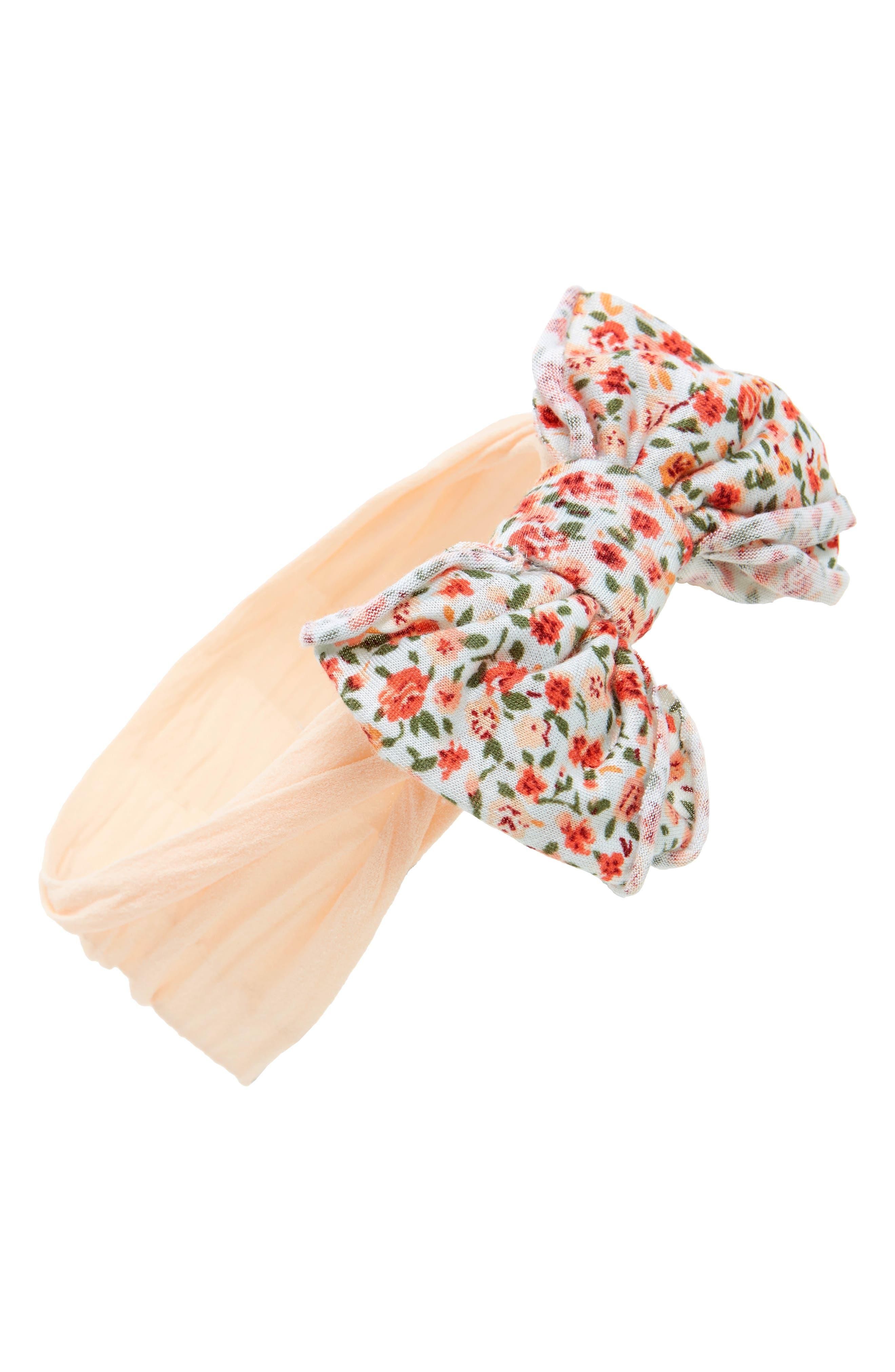Jersey Bow Headband,                             Main thumbnail 7, color,