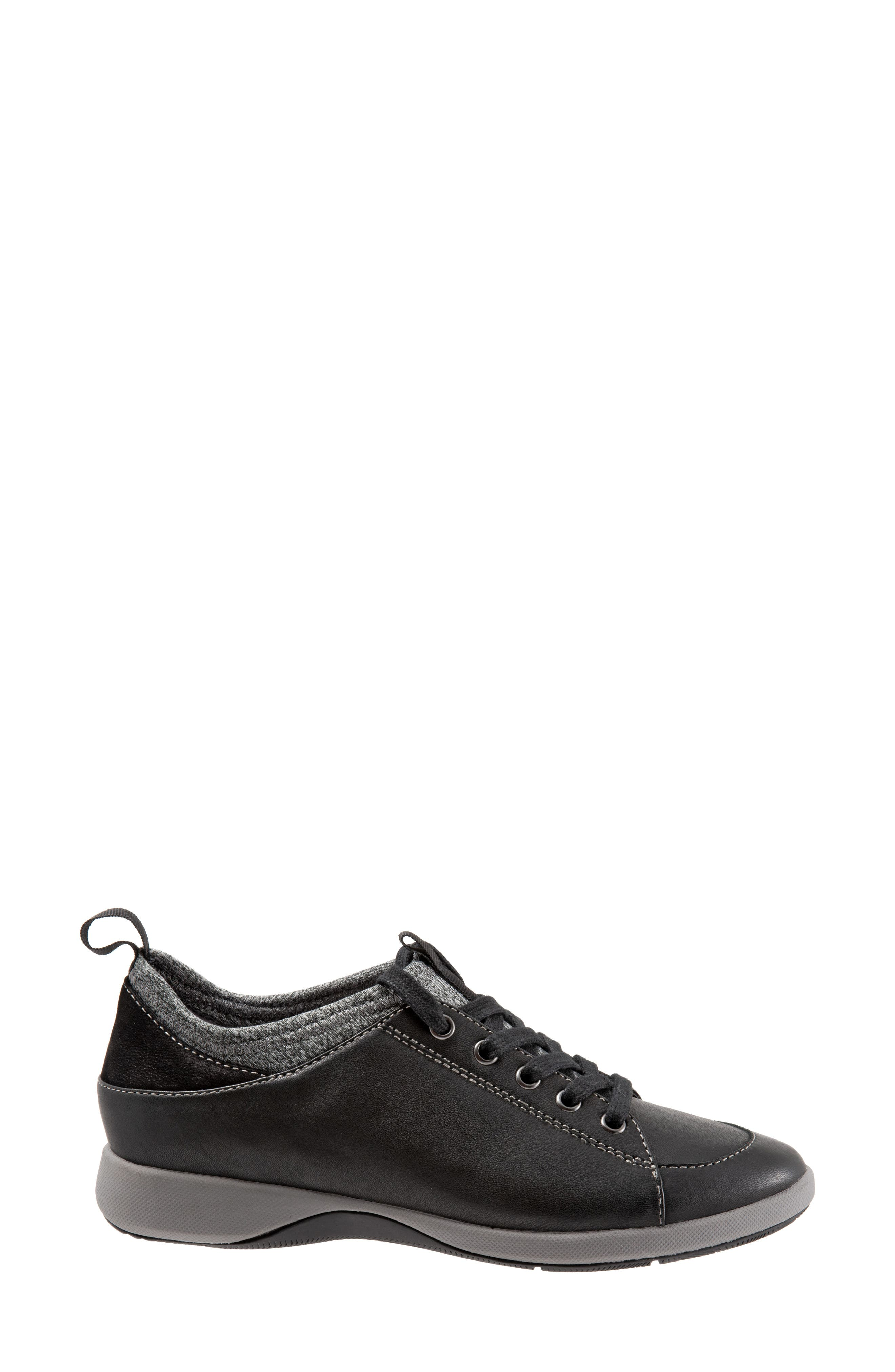SAVA Haven Sneaker,                             Alternate thumbnail 3, color,                             BLACK/ GREY LEATHER