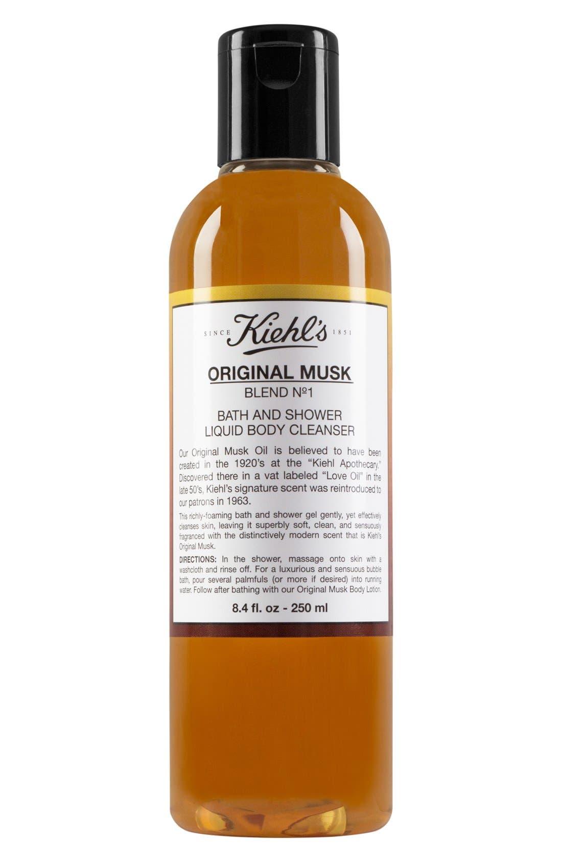 Original Musk Bath & Shower Liquid Body Cleanser,                             Main thumbnail 1, color,                             NO COLOR