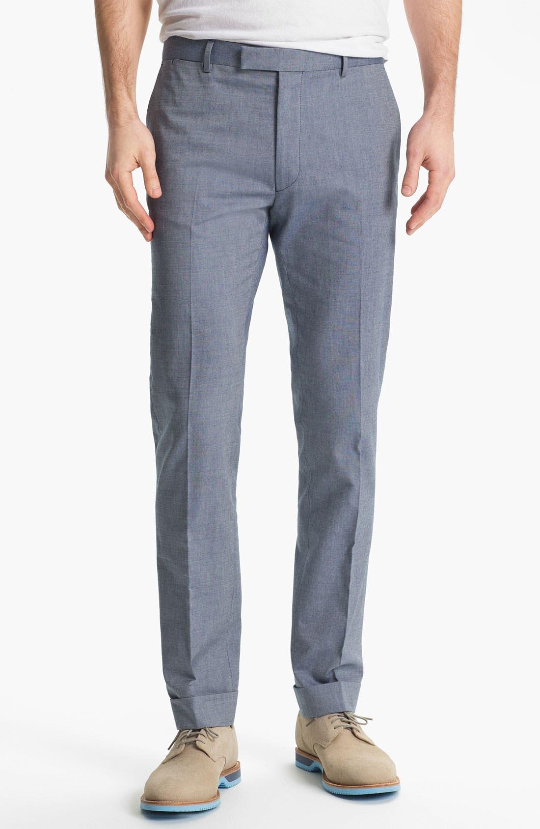 'Smarty' Slim Straight Leg Pants,                             Main thumbnail 1, color,                             405