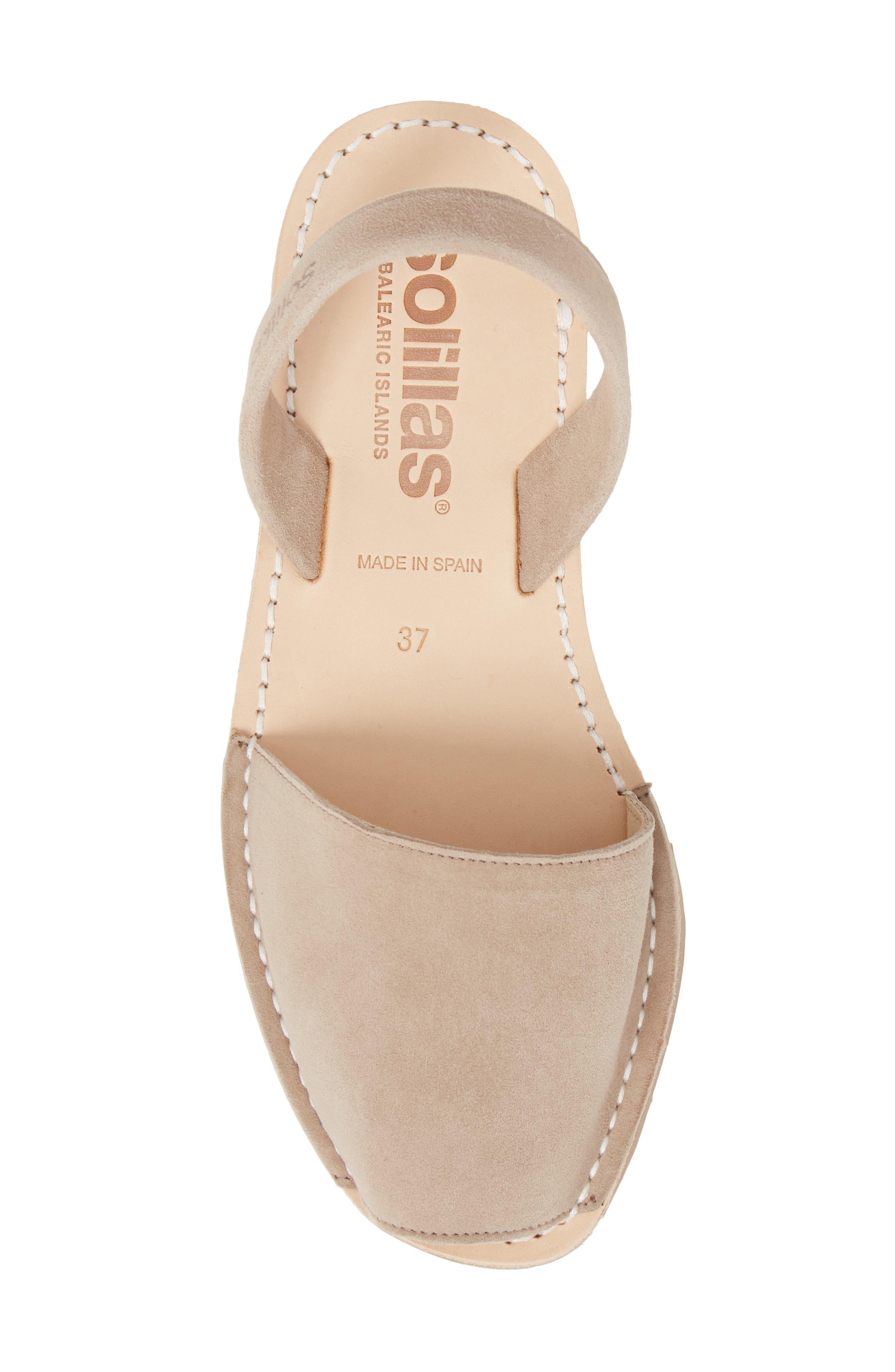 Flat Sandal,                             Alternate thumbnail 5, color,                             TAUPE