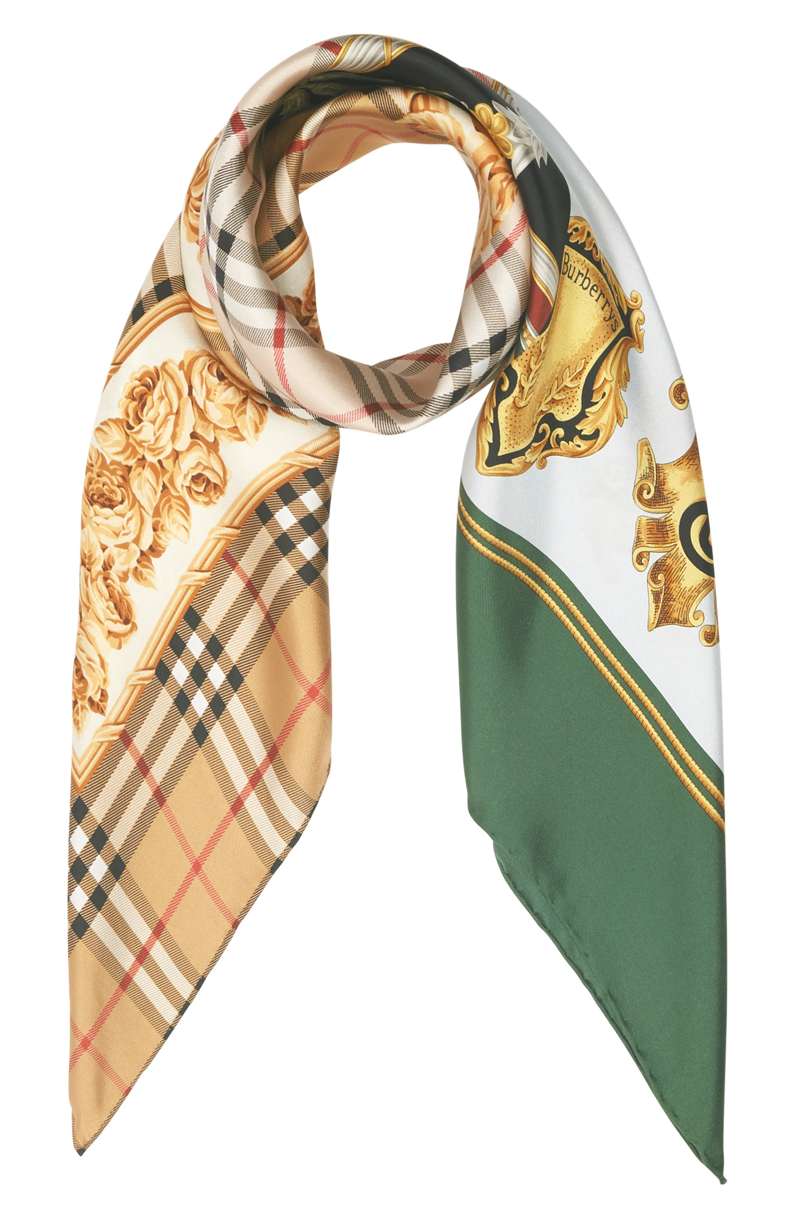 Archive Prints Silk Scarf,                             Alternate thumbnail 3, color,                             710