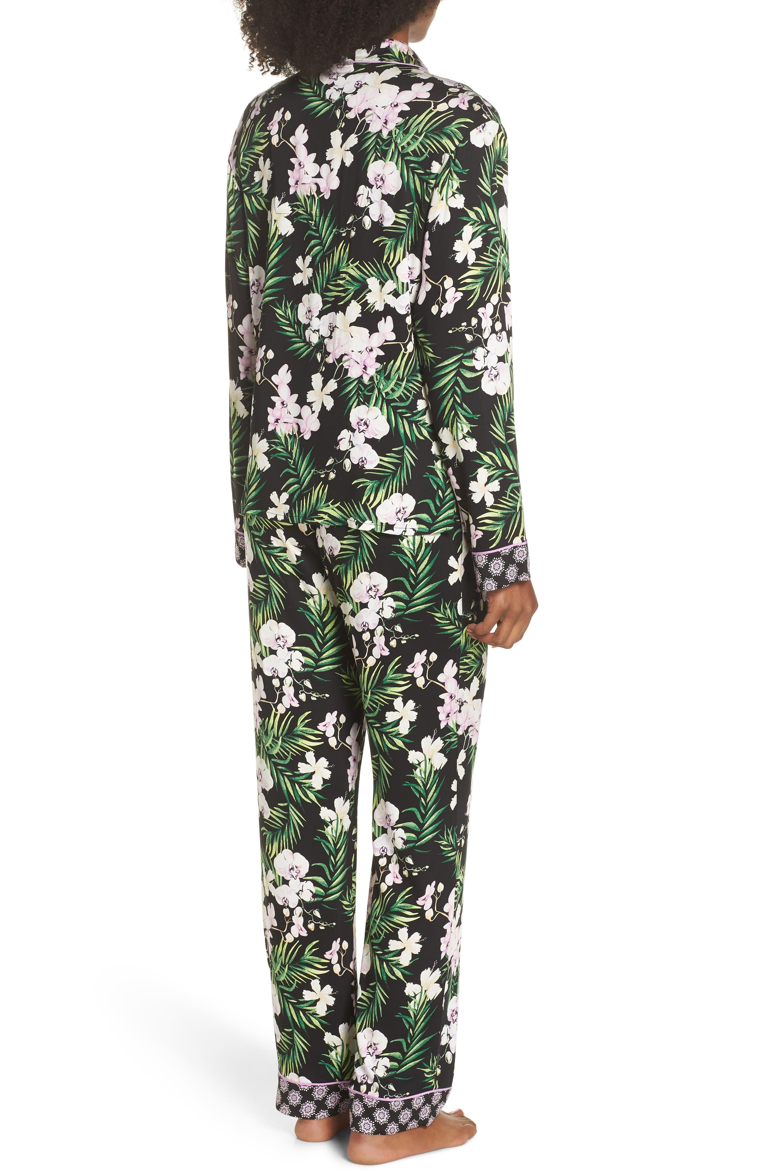 Floral Print Pajamas,                             Alternate thumbnail 2, color,                             001