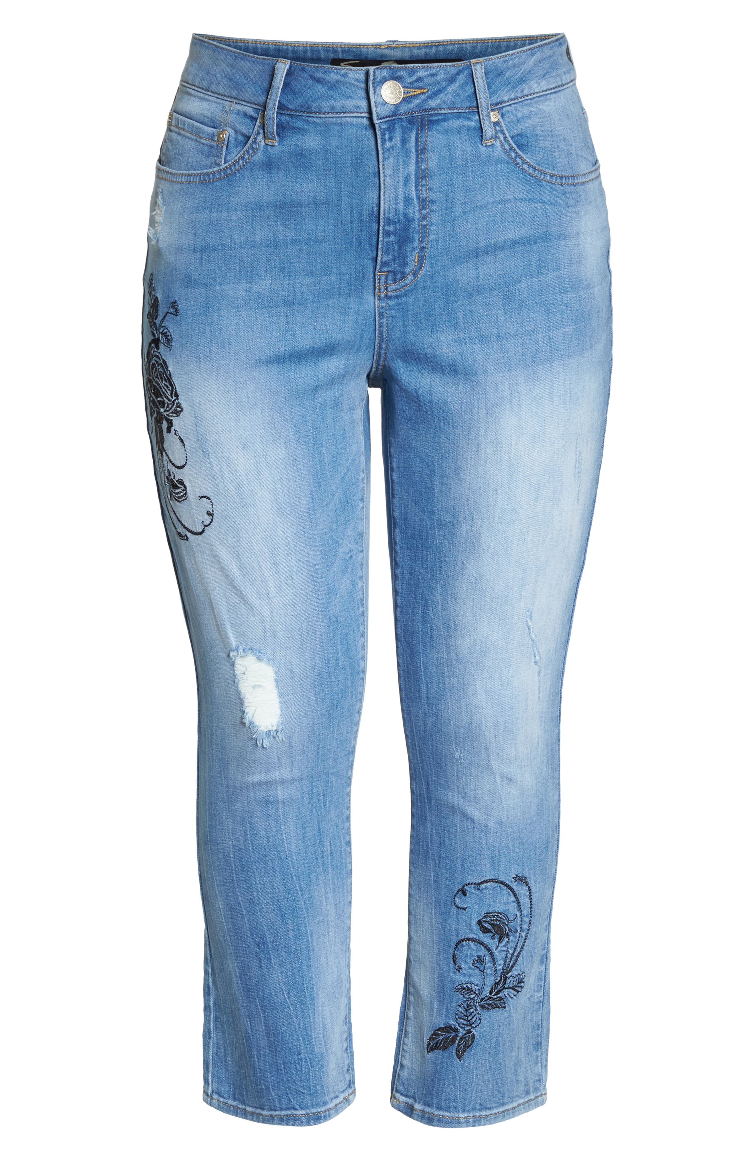 SEVEN7,                             High Rise Straight Crop Jeans,                             Alternate thumbnail 7, color,                             AFFECTION