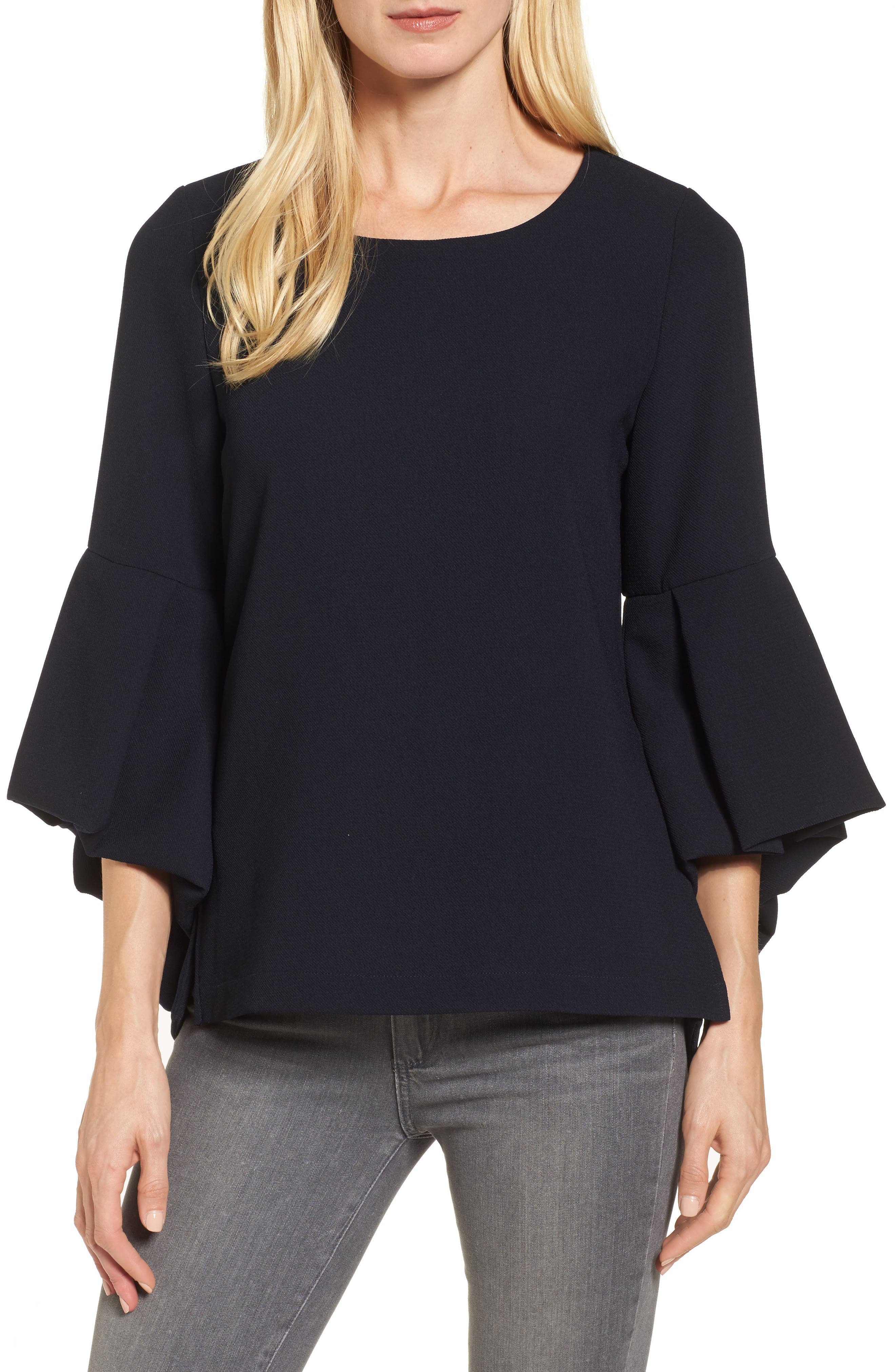 Bell Sleeve High/Low Top,                             Main thumbnail 1, color,                             410