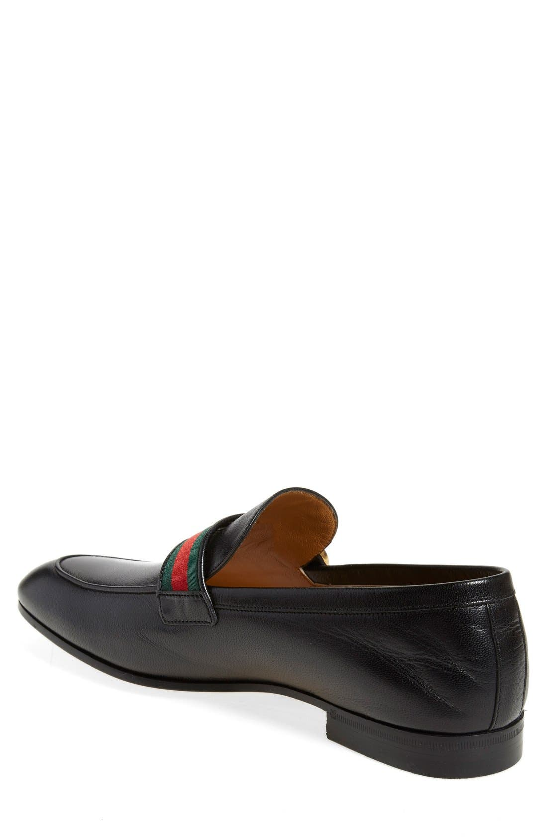 Donnie Bit Loafer,                             Alternate thumbnail 2, color,                             NERO LEATHER