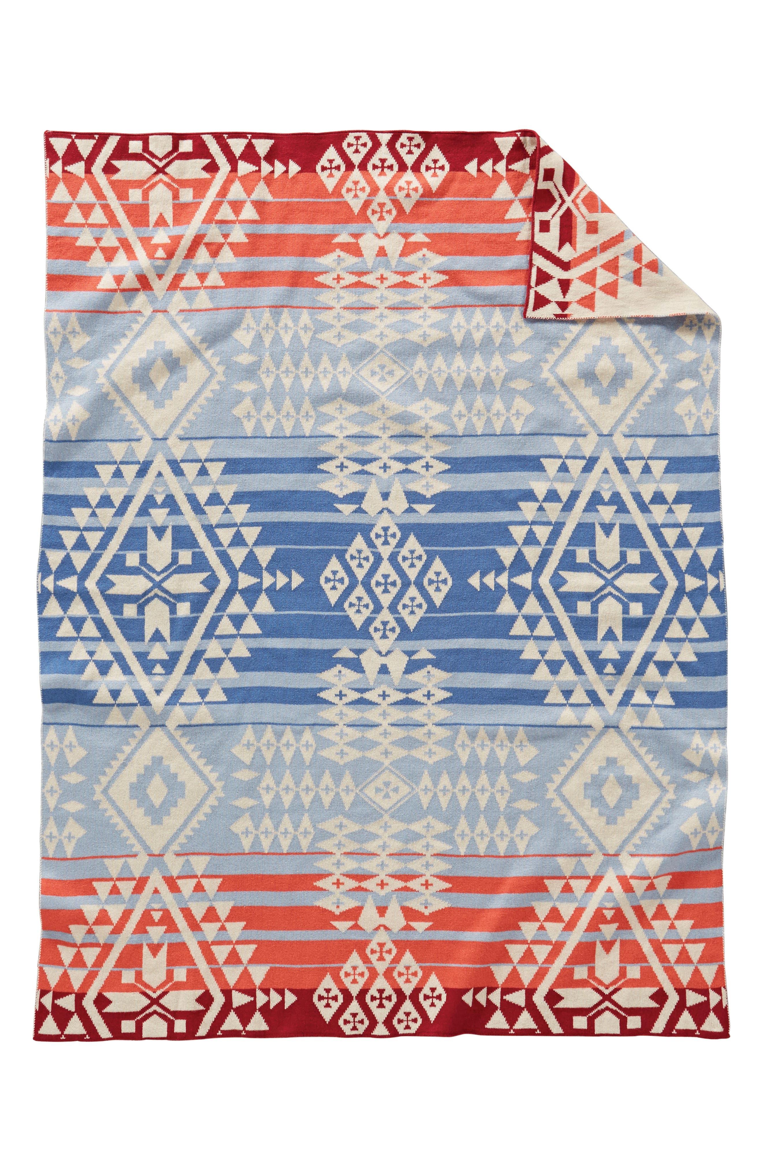 Knit Mini Blanket,                             Main thumbnail 1, color,                             CANYONLANDS