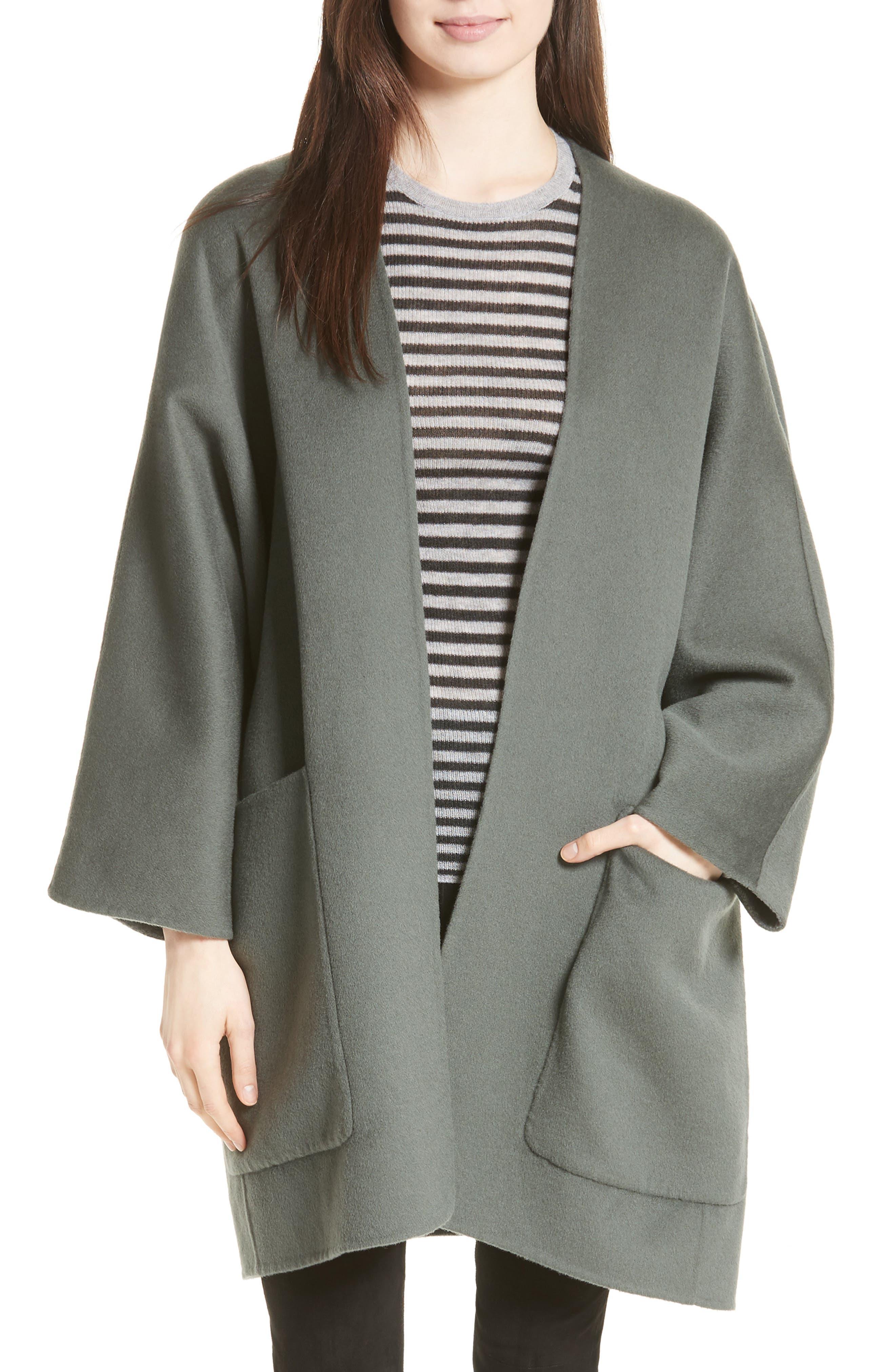 Reversible Wool & Cashmere Clutch Coat,                             Main thumbnail 2, color,